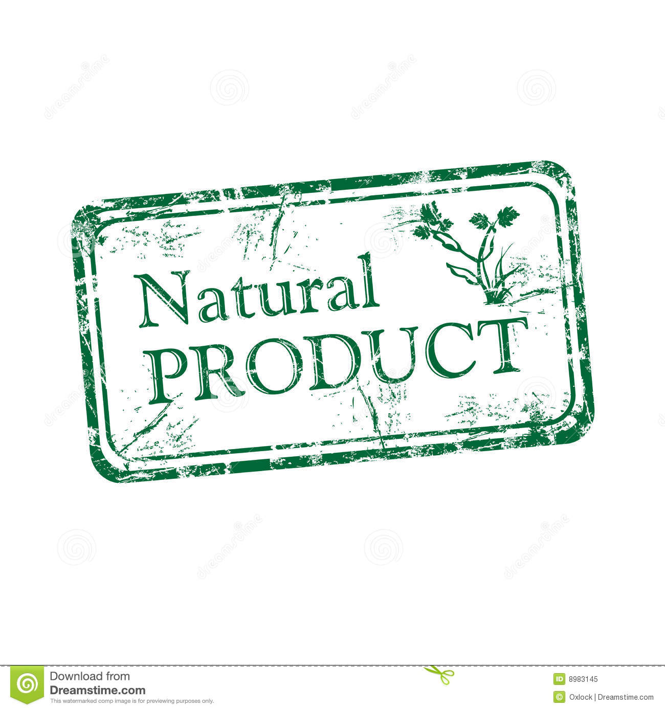 natural product rubber stamp stock vector illustration of growth