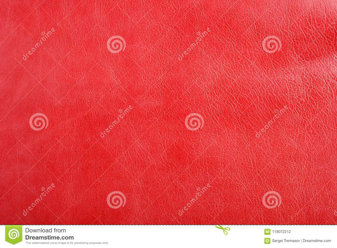Natural red leather texture background.