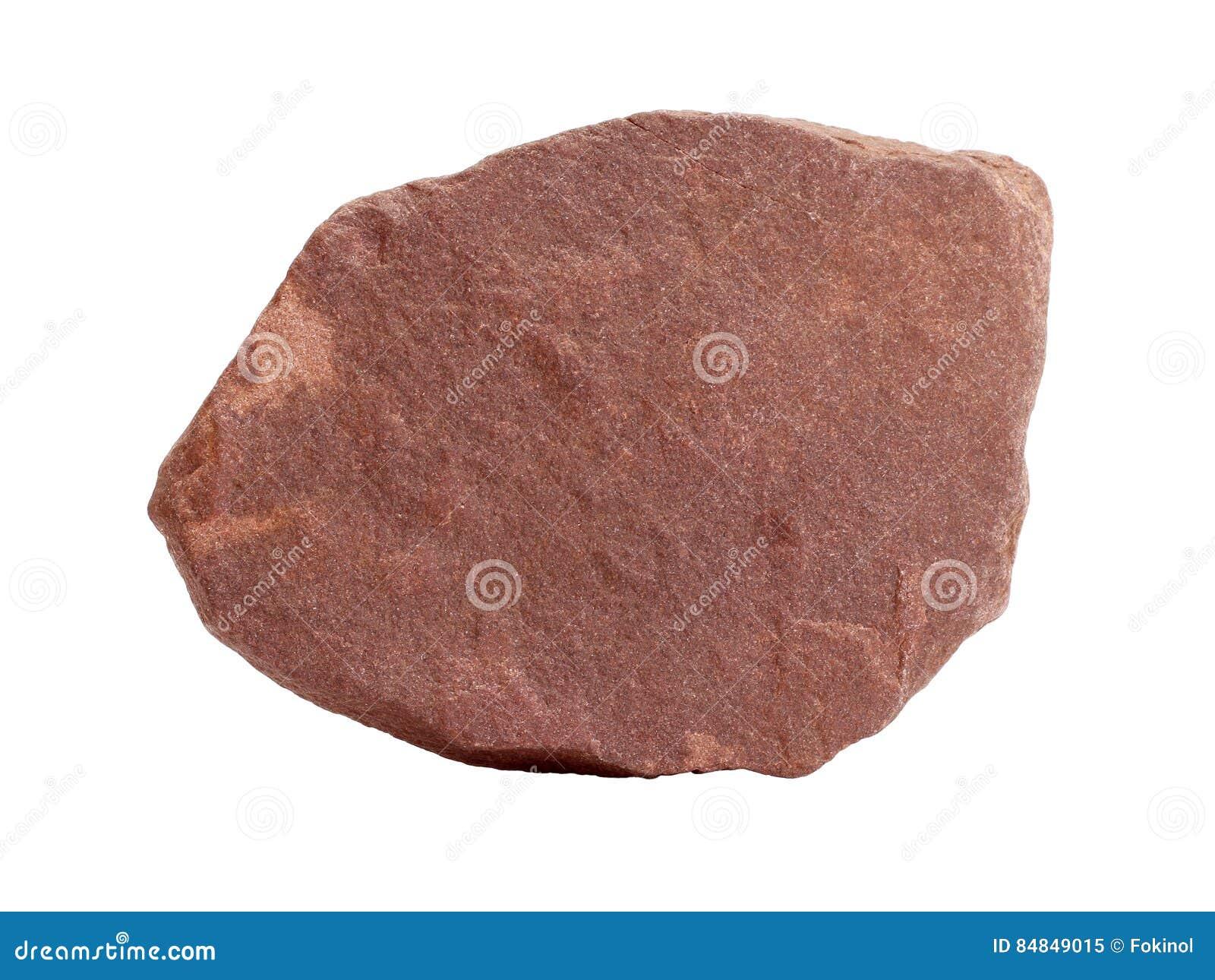 Natural sample of red quartzite slate - metamorphosed sandstone rock