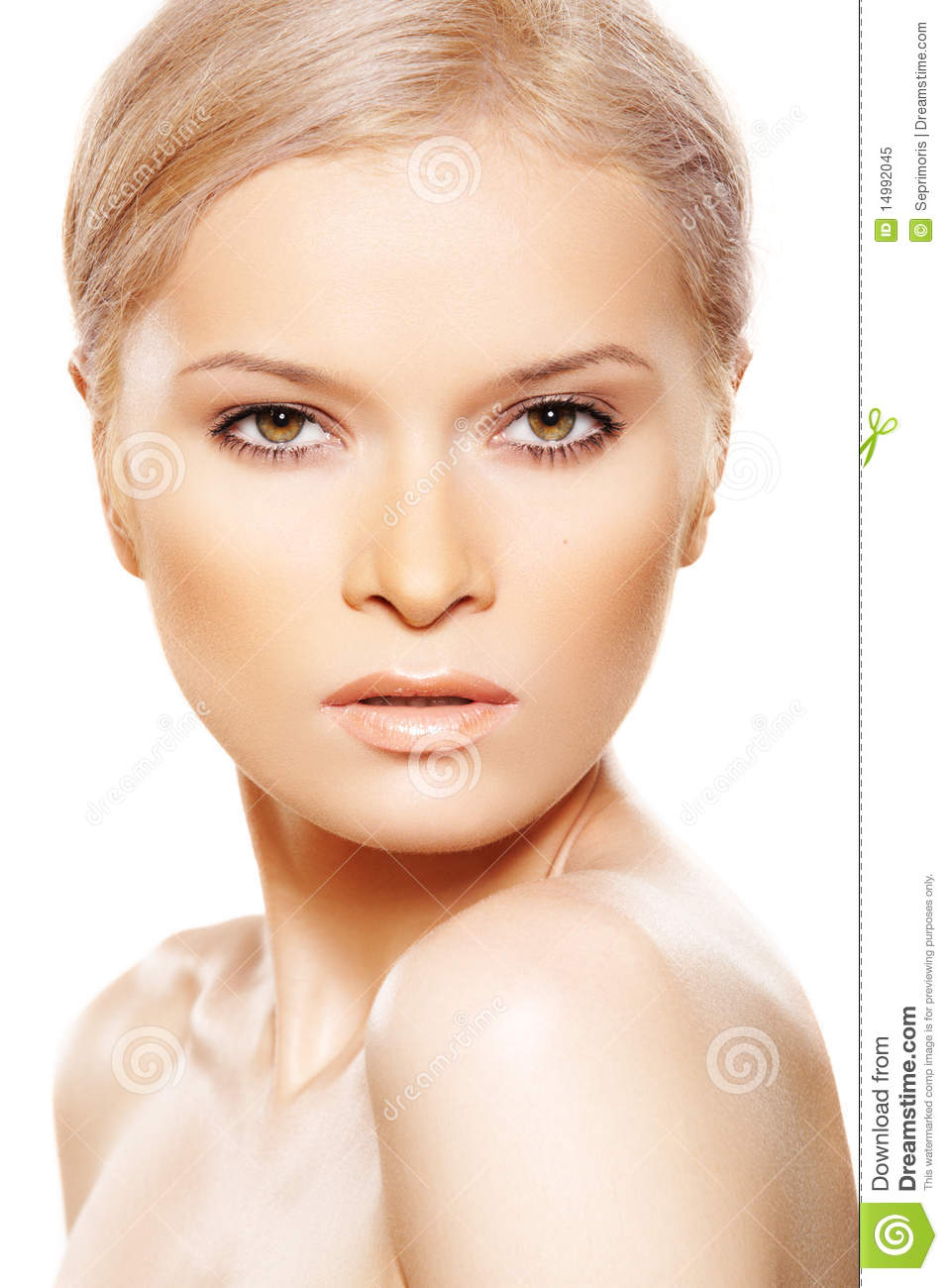 Natural Sexy Beauty With Fashion Day Beige Make Up Royalty