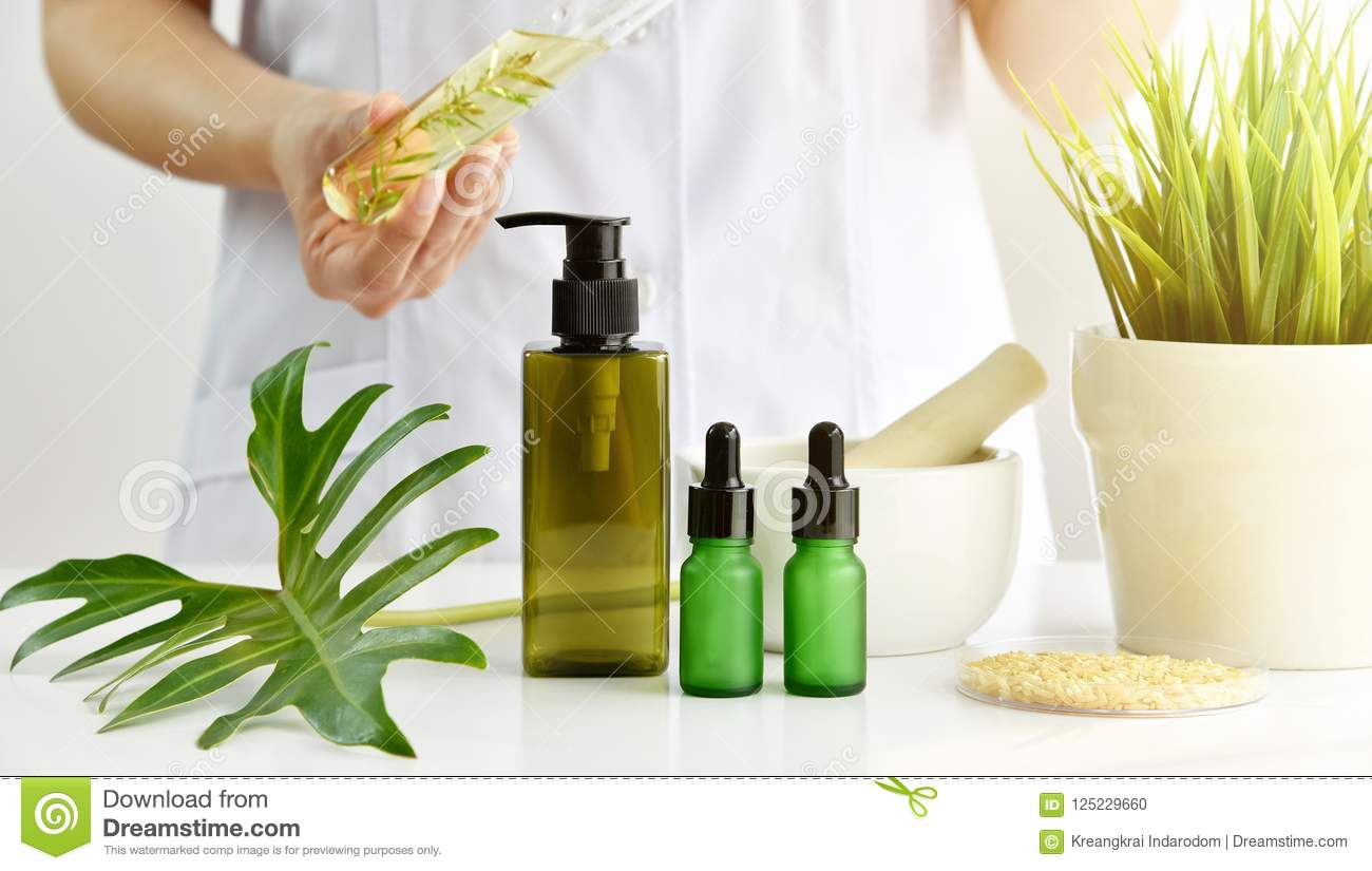 Natural Skincare Cosmetics Research And Development Concept