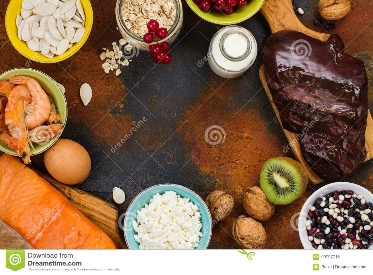 Natural Sources Of Phosphorus Stock Photo Image Of Eggs Food
