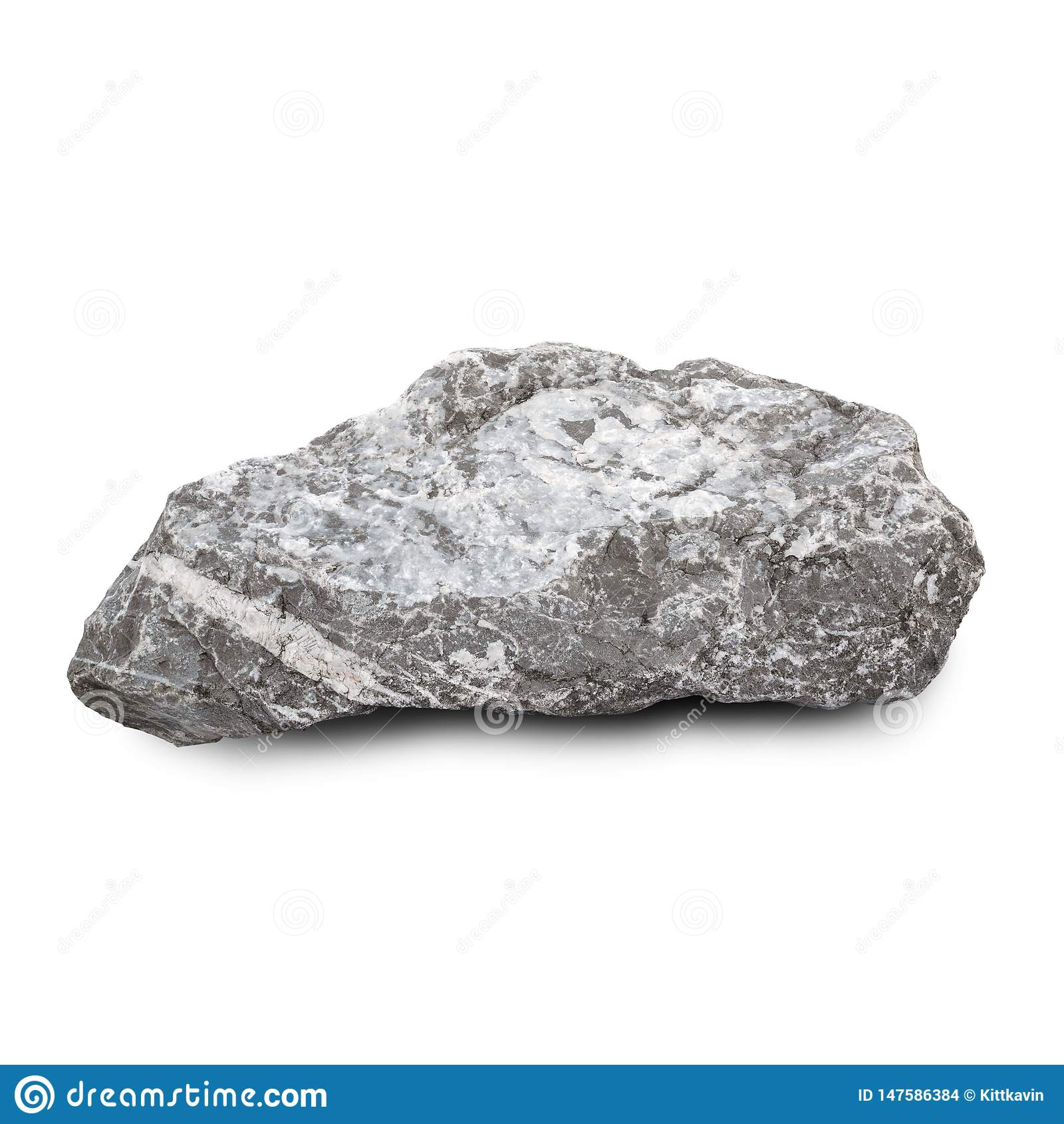 Natural Stone Isolated On White Background Granite Dirty