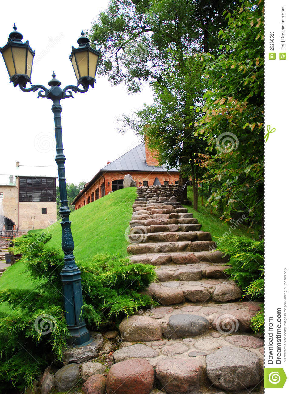 Natural Building Stone Steps : Natural stone steps stock image of building