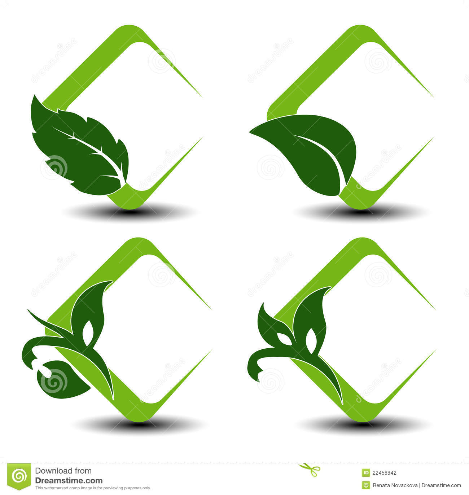 Natural symbols with leaf illustration see also my portfolio
