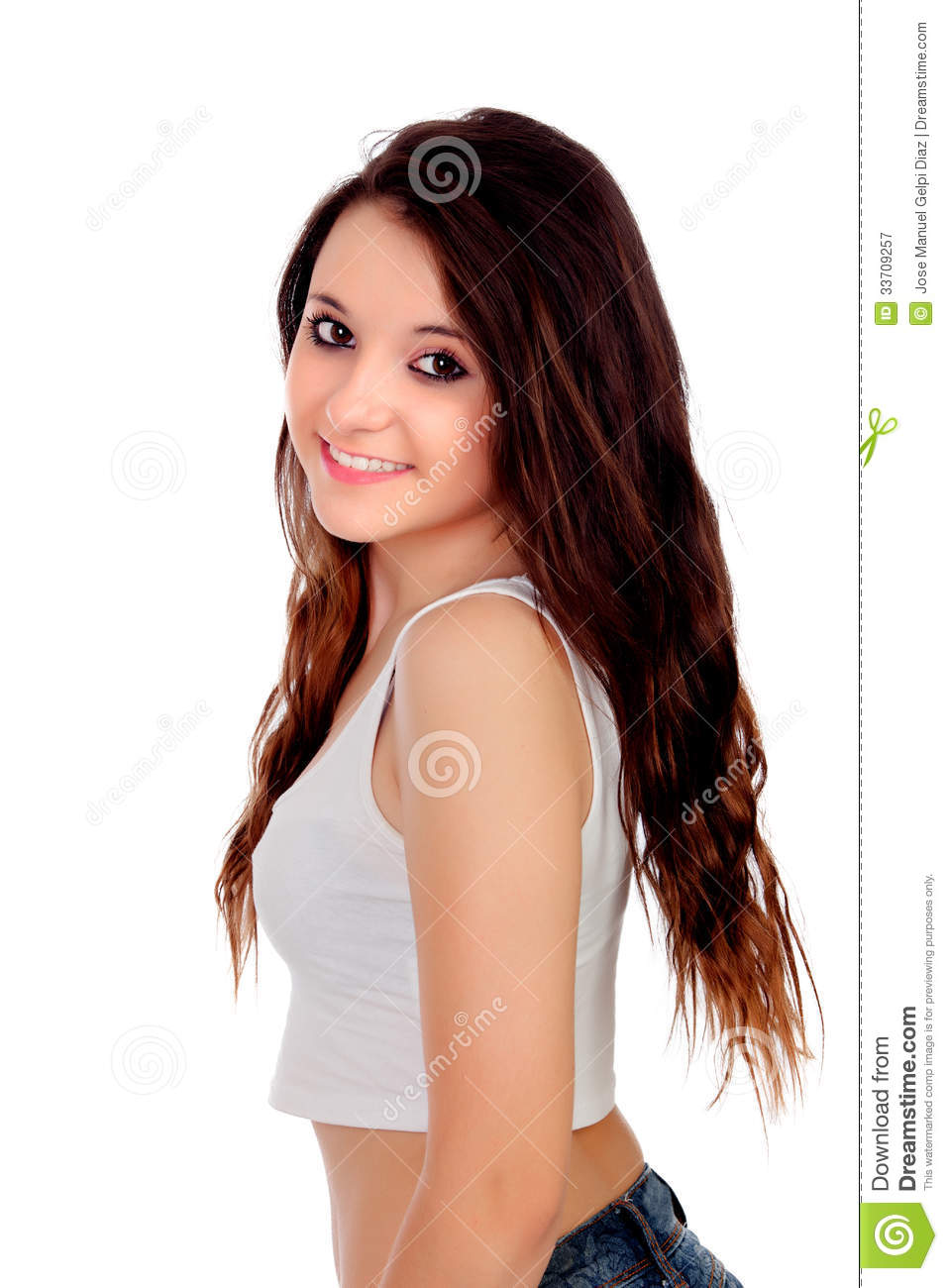 Natural Teen Girl With Copper Hair Royalty Free Stock