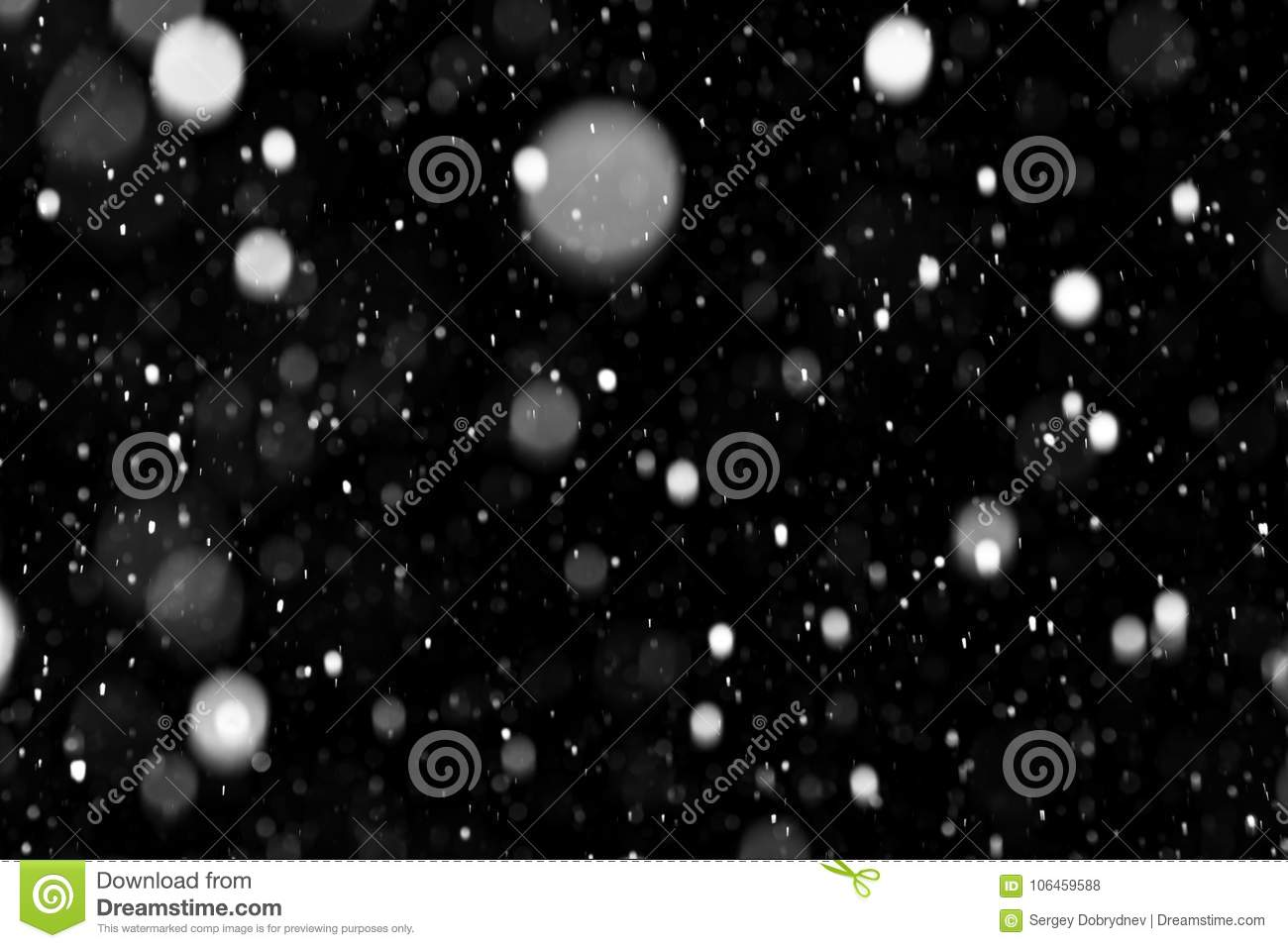 Natural texture of falling snow