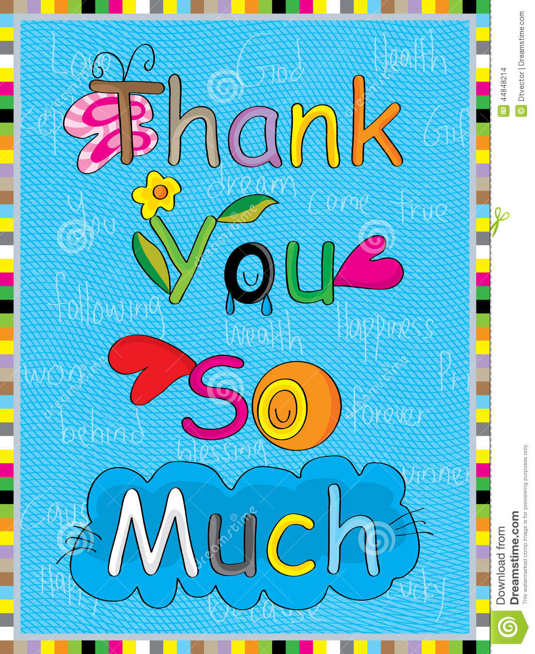 Natural Thank You So Much Stock Vector Illustration Of