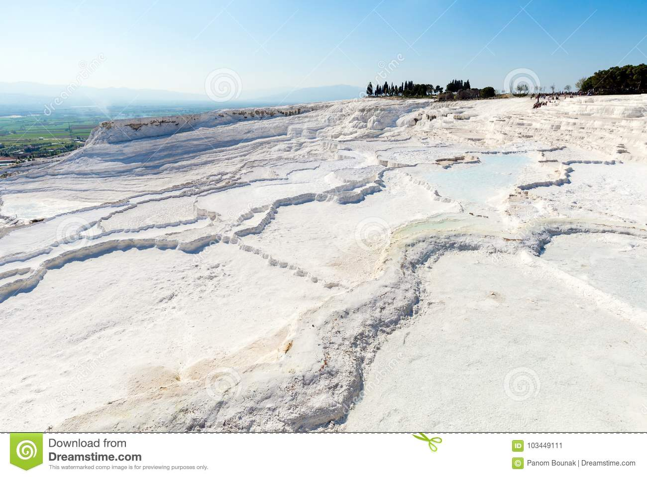 Natural Travertine Pools And Terraces At Pamukkale ,Turkey ...