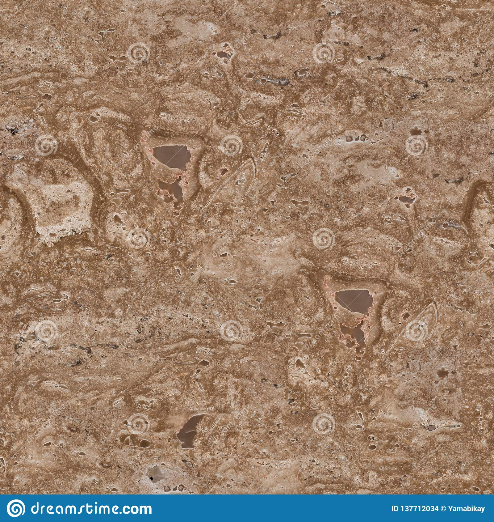Natural Travertine Stone Texture Seamless Square Background Tile Ready Stock Photo Image Of Pattern Light 137712034