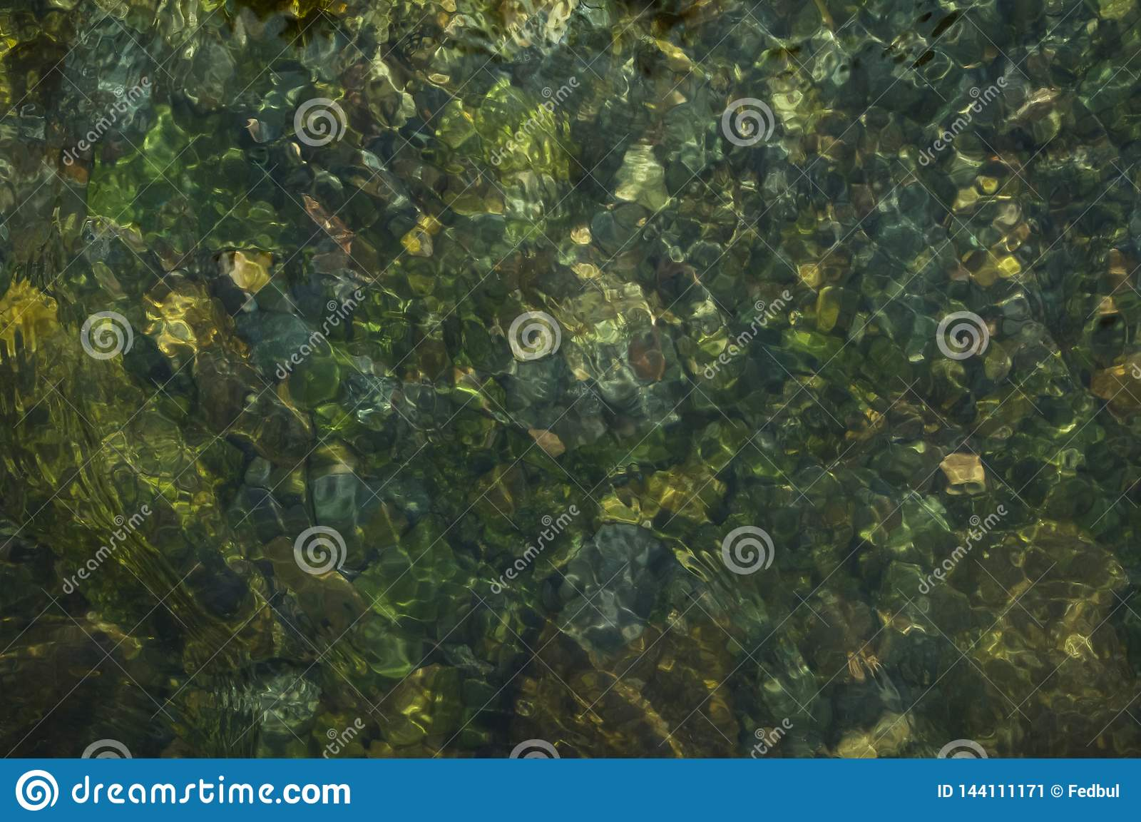 Natural water texture background of mountain river