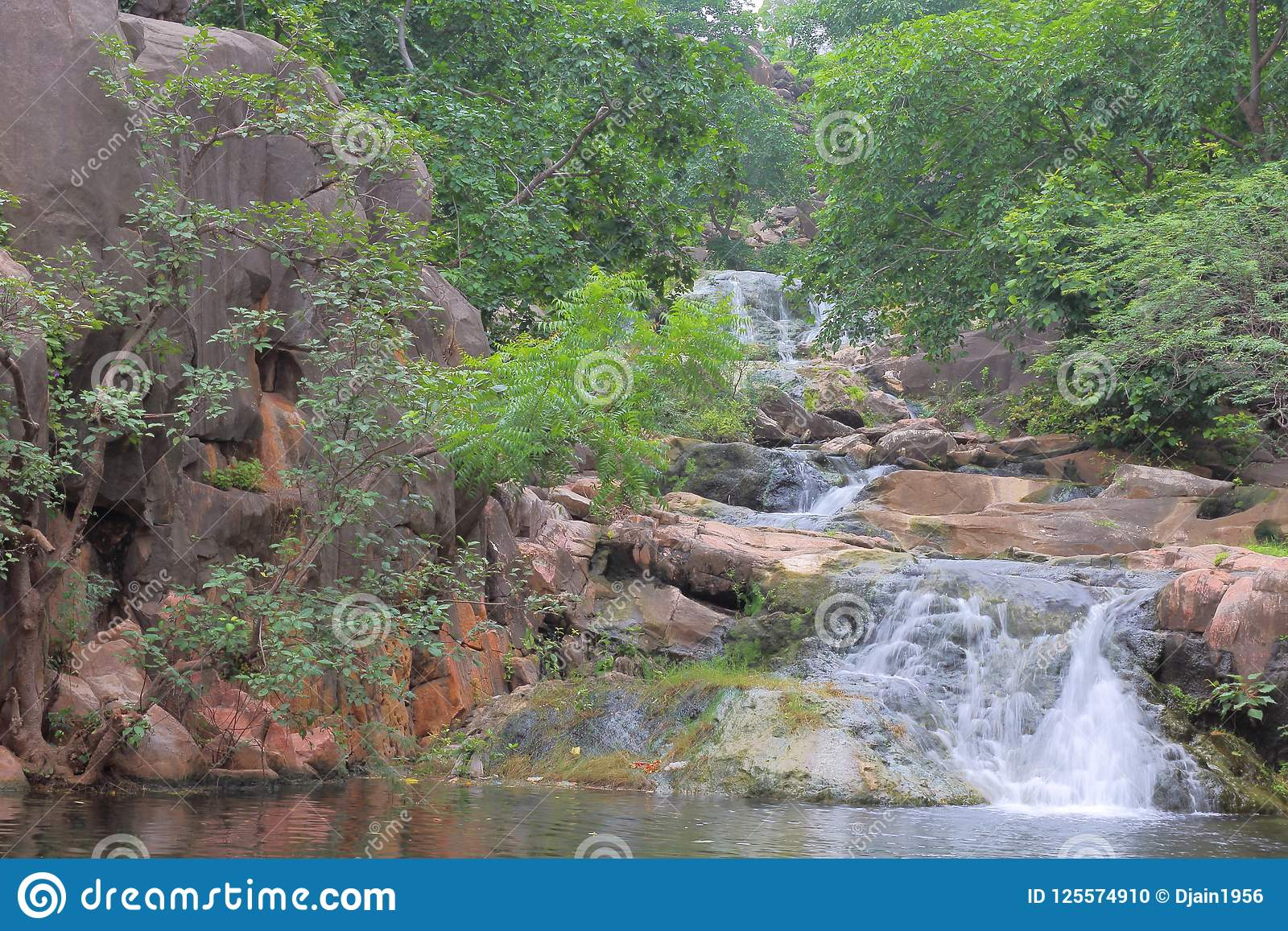 natural waterfall in the rainy season stock photo image of