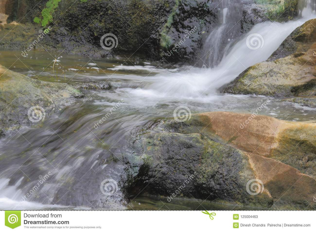 natural waterfall in the rainy season stock image image of here