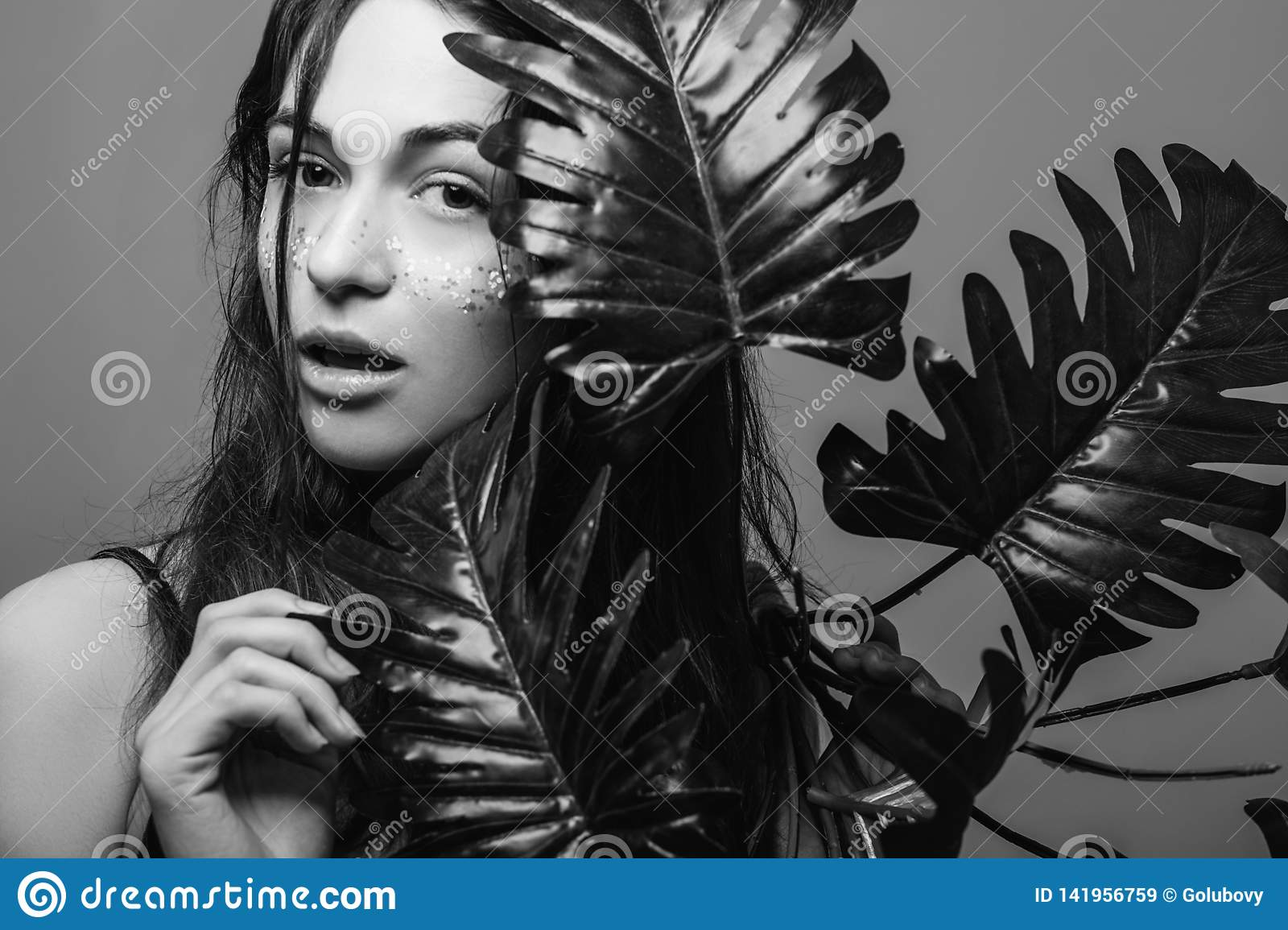 Natural Woman Beauty Spa Skin Health Care Stock Image ...