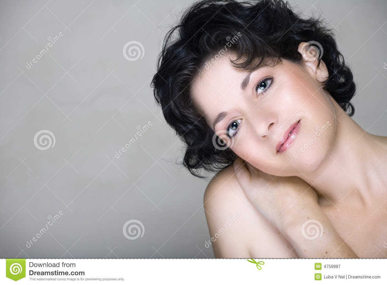 Natural Woman In Mid 30s Stock Image Image Of People