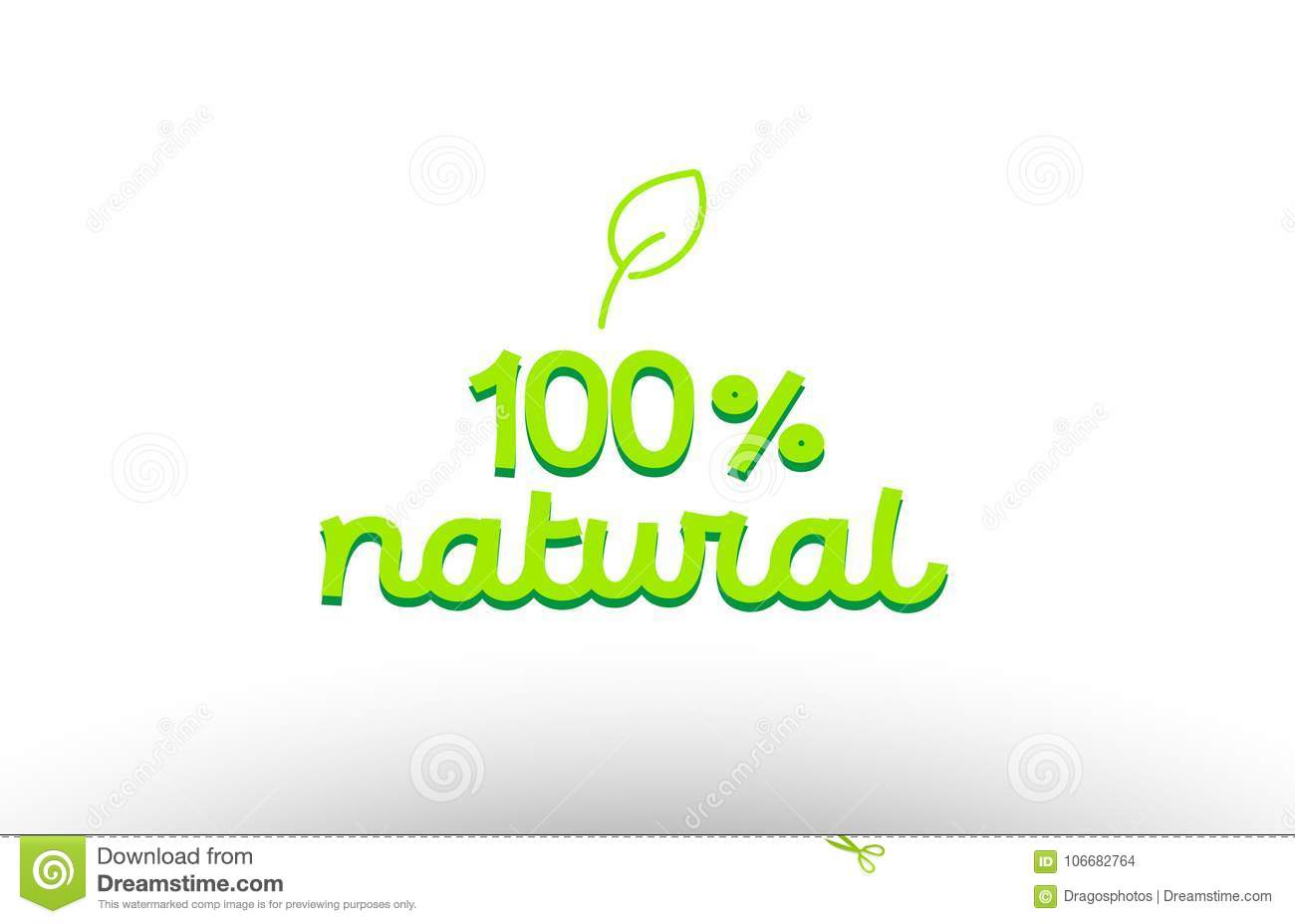 100  natural word concept with green leaf logo icon company design