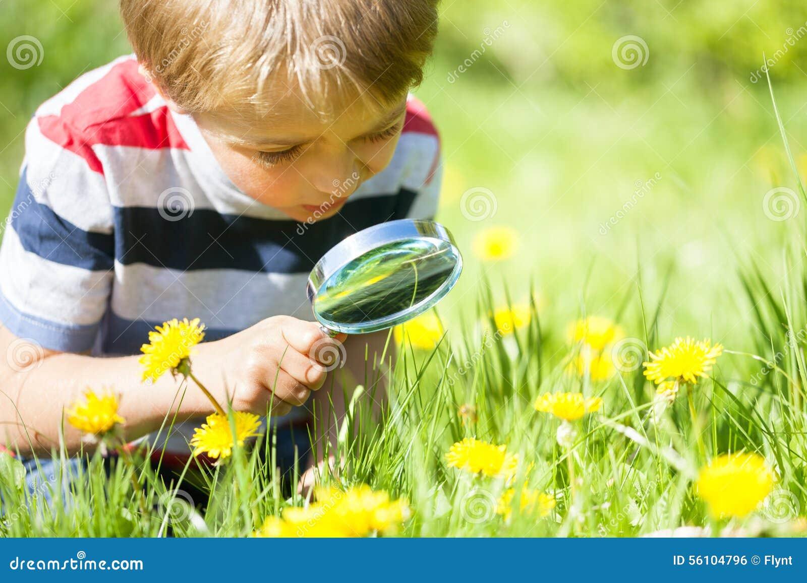 Naturaleza de exploración del niño