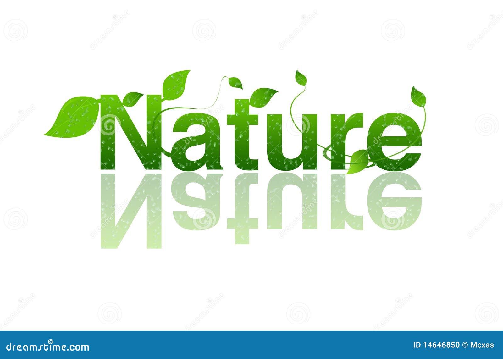 Naturaleza, Insignia De La Ecología Stock de ilustración ...