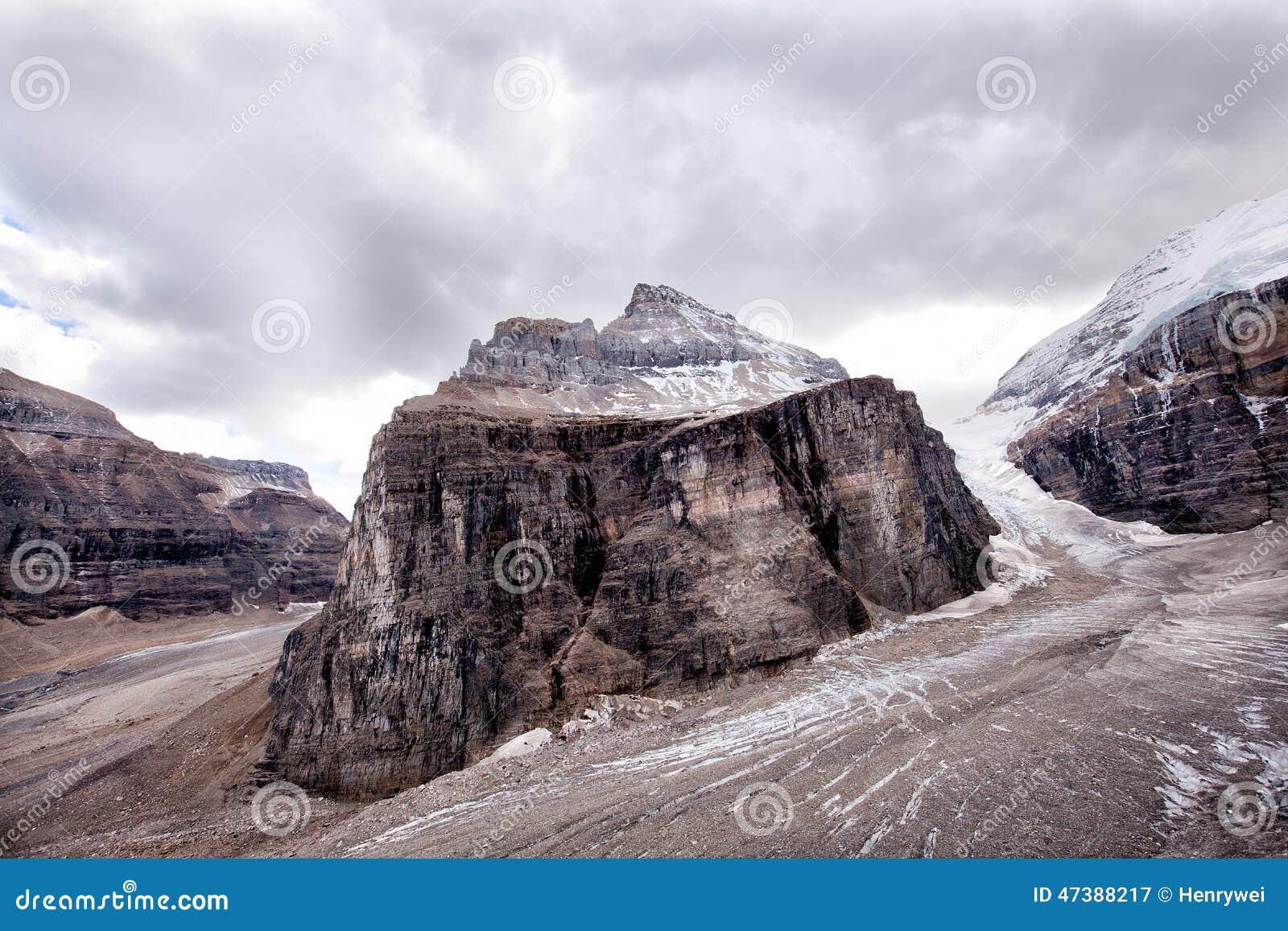 Naturaleza salvaje en Rocky Mountains, llano de seis glaciares