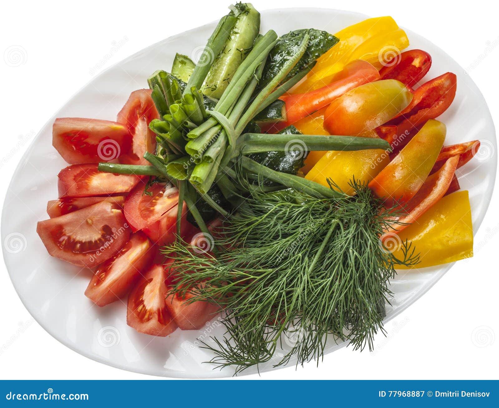 Naturalna domowej roboty świeżego warzywa sałatka