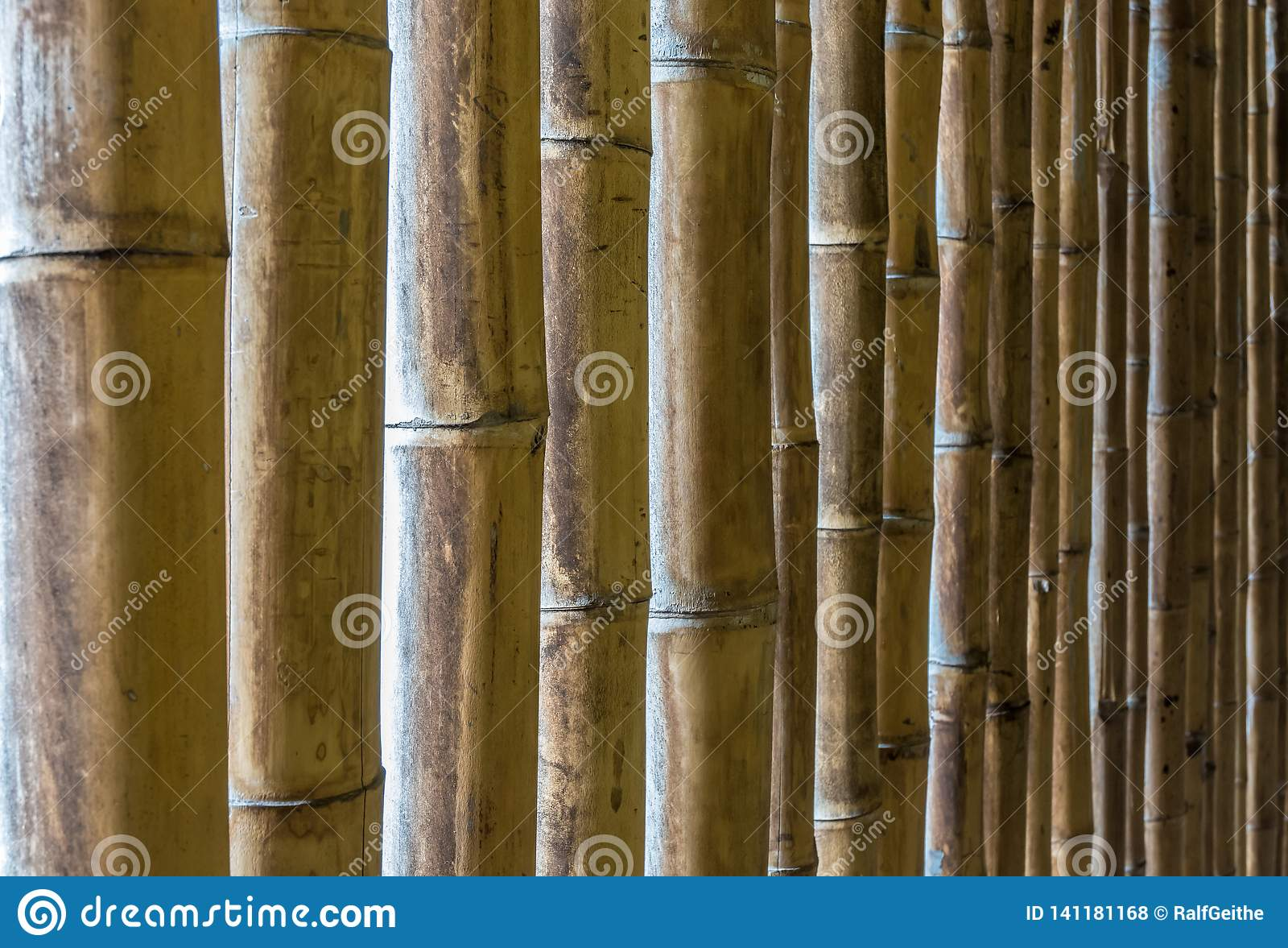 Naturalna tekstura bambusowi kije