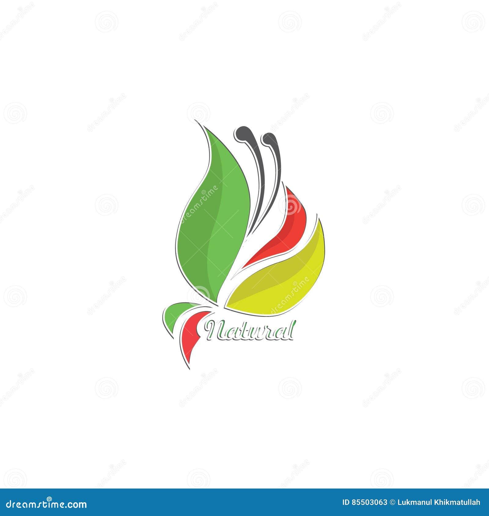 Naturalny liścia logo