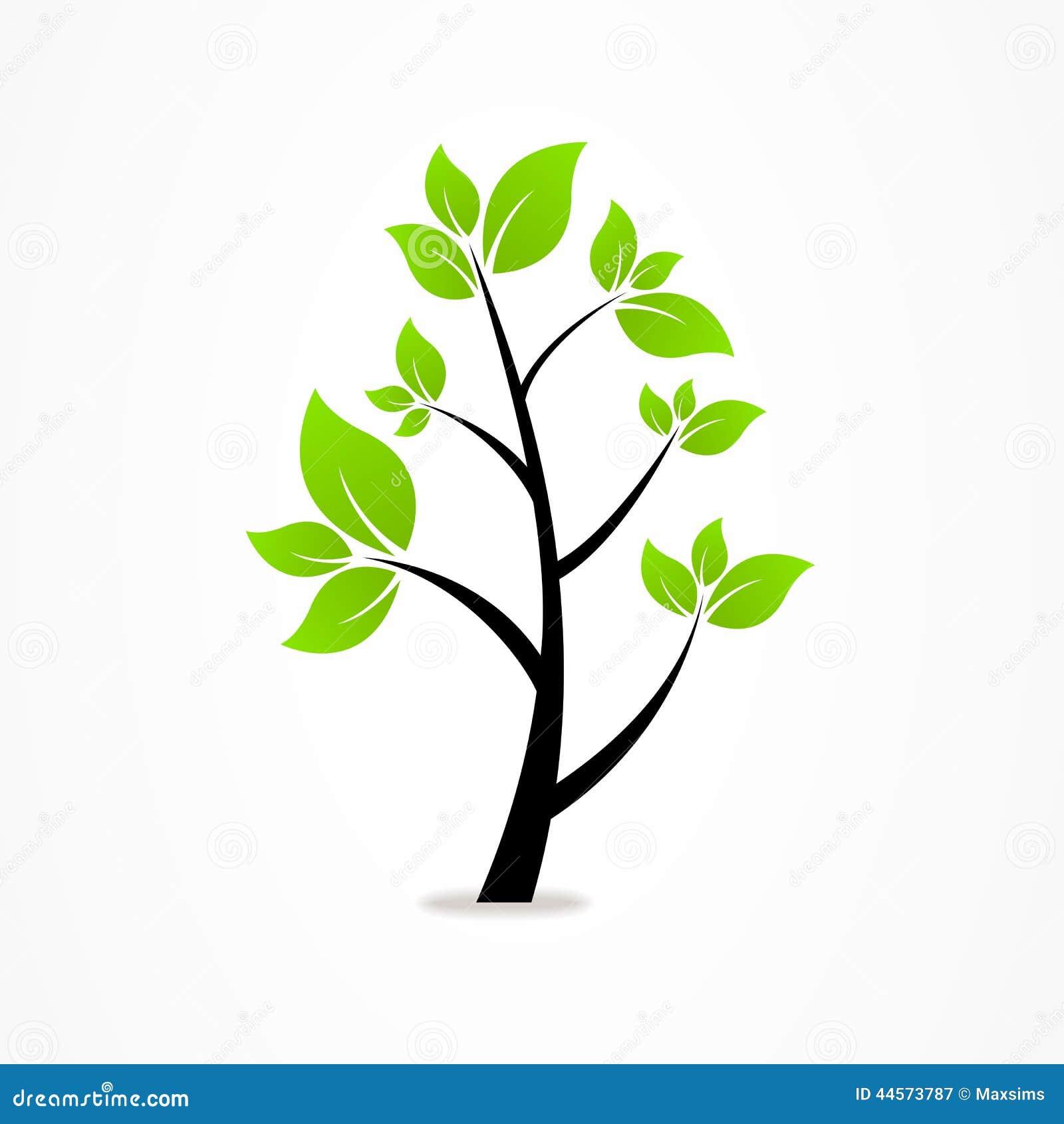 Nature Abstraite De Logo D'eco D'arbre D'affaires Illustration de Vecteur - Image: 44573787