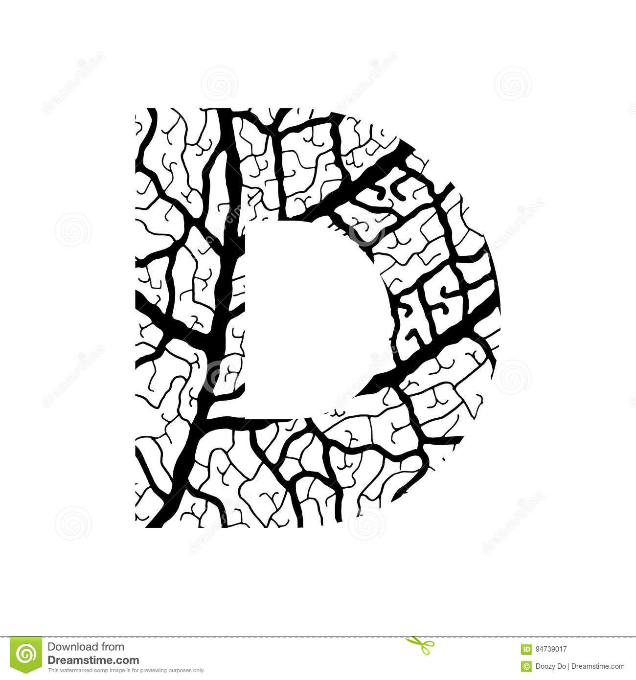 Nature Alphabet Ecology Decorative Font Stock Vector