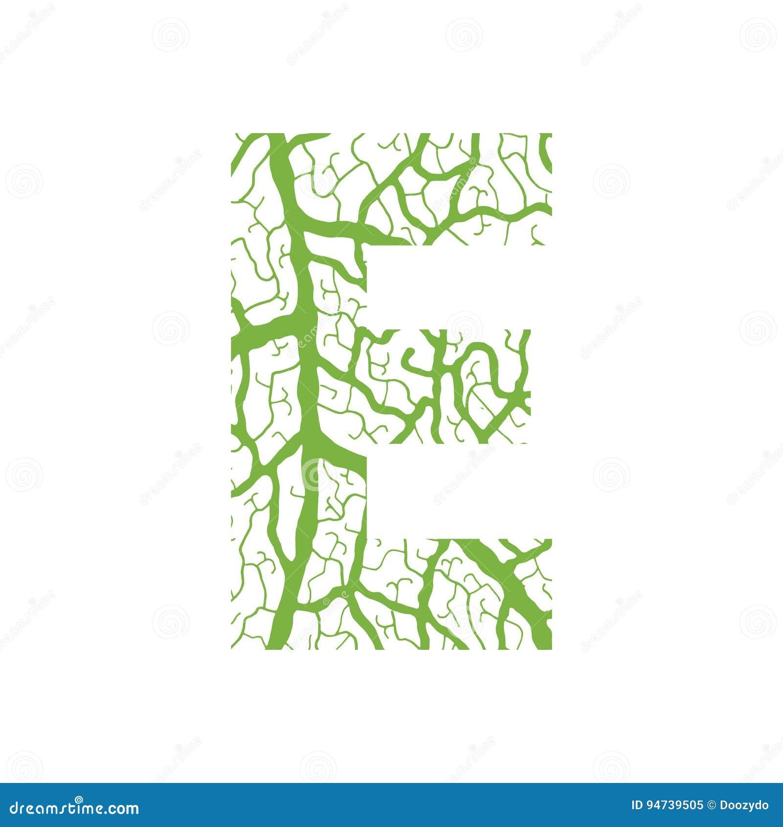 Nature Alphabet, Ecology Decorative Font  Stock Vector
