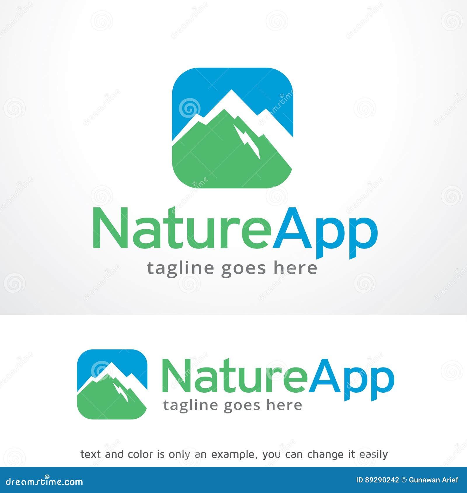 nature app logo template design vector emblem design concept