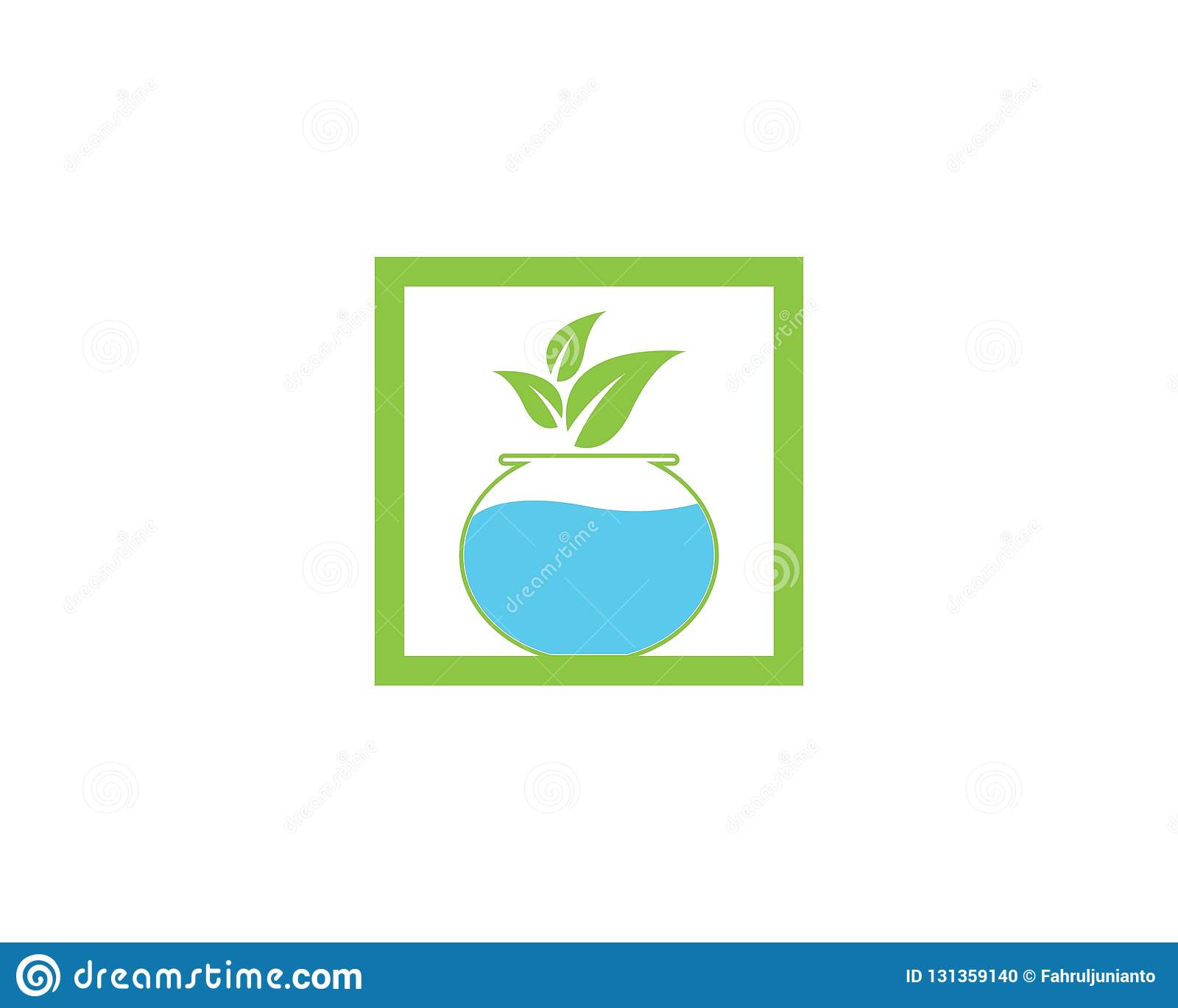 Nature Aquascape Icon Logo Vector Illustration Stock Vector Illustration Of Table Underwater 131359140