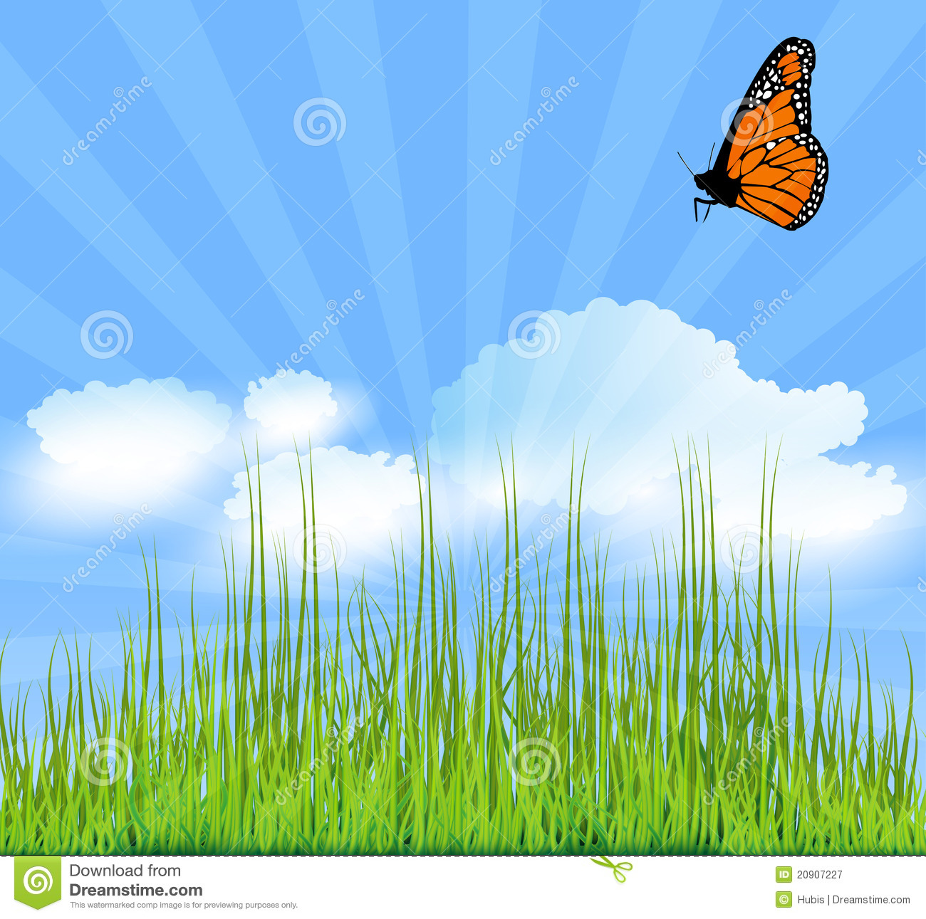 Nature Background Poster Stock Vector Illustration Of