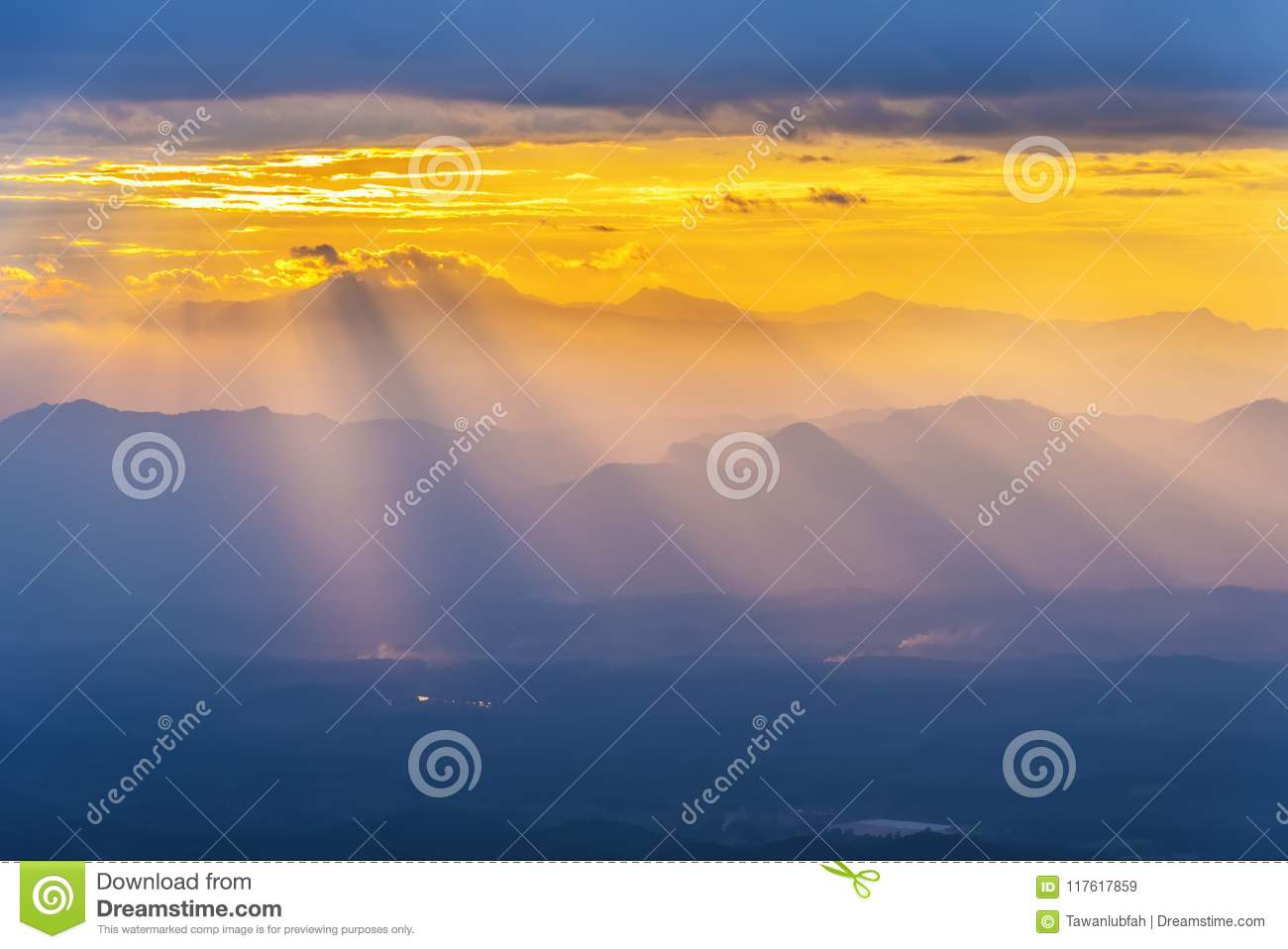 Nature Background Ray Light Mountain Sunset Fantasy Sky Nature Background  Ray Light Mountain Sunset Fantasy Sky Scene 117617859