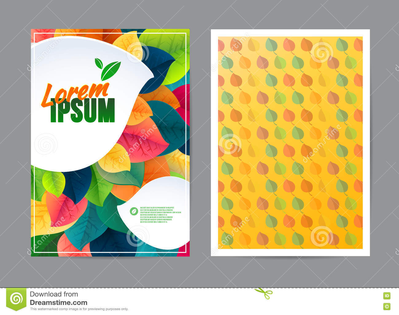 Poster design nature - Nature Banner Poster With Leaves Natural Ecology Banner Eco Brochure Design Vector Template Corporate Poster With