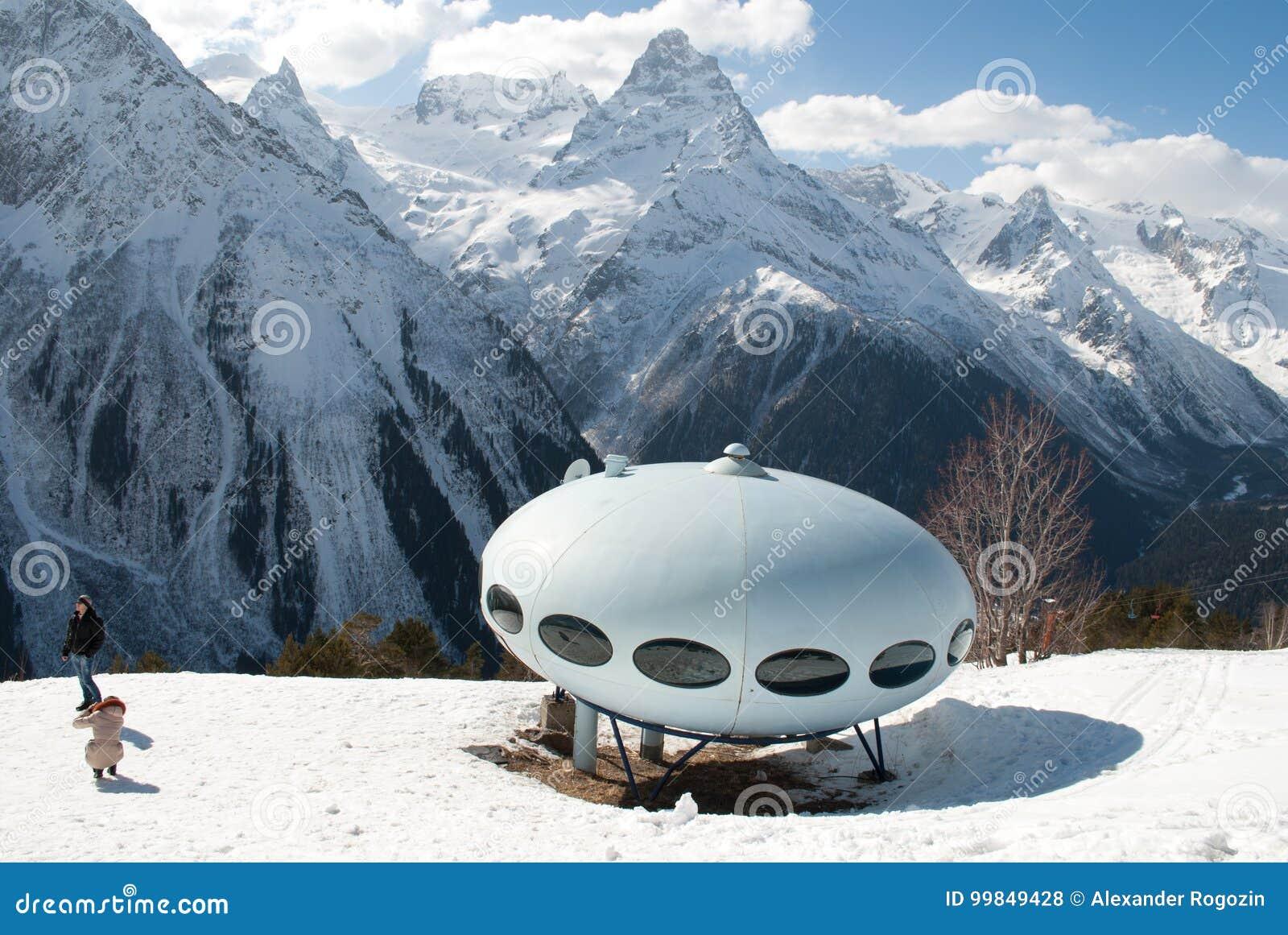 Mountains UFO house