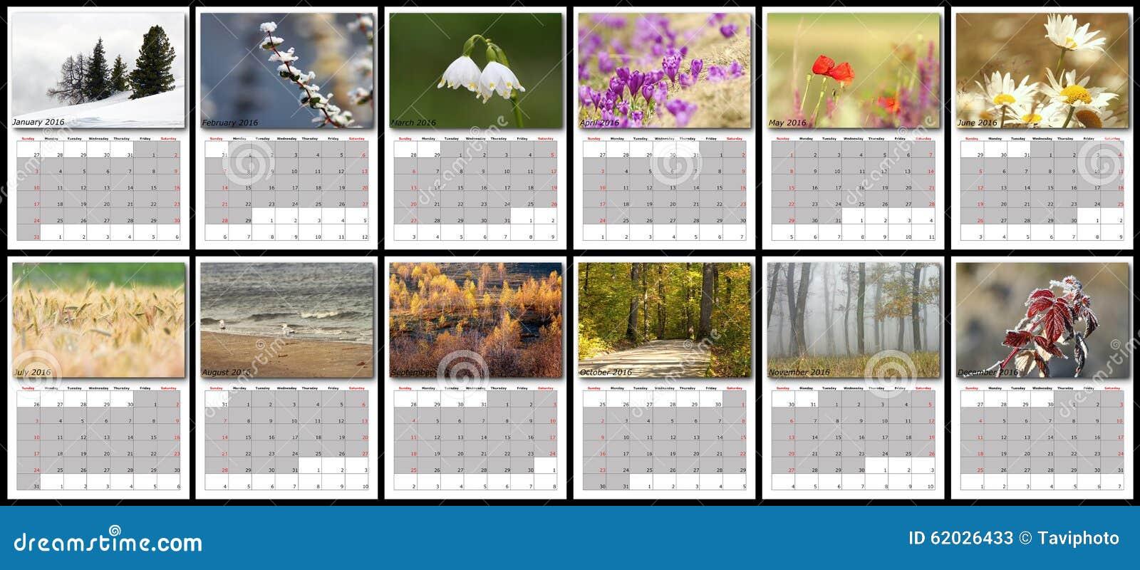 Office Planner Calendar : Nature calendar year stock image of july