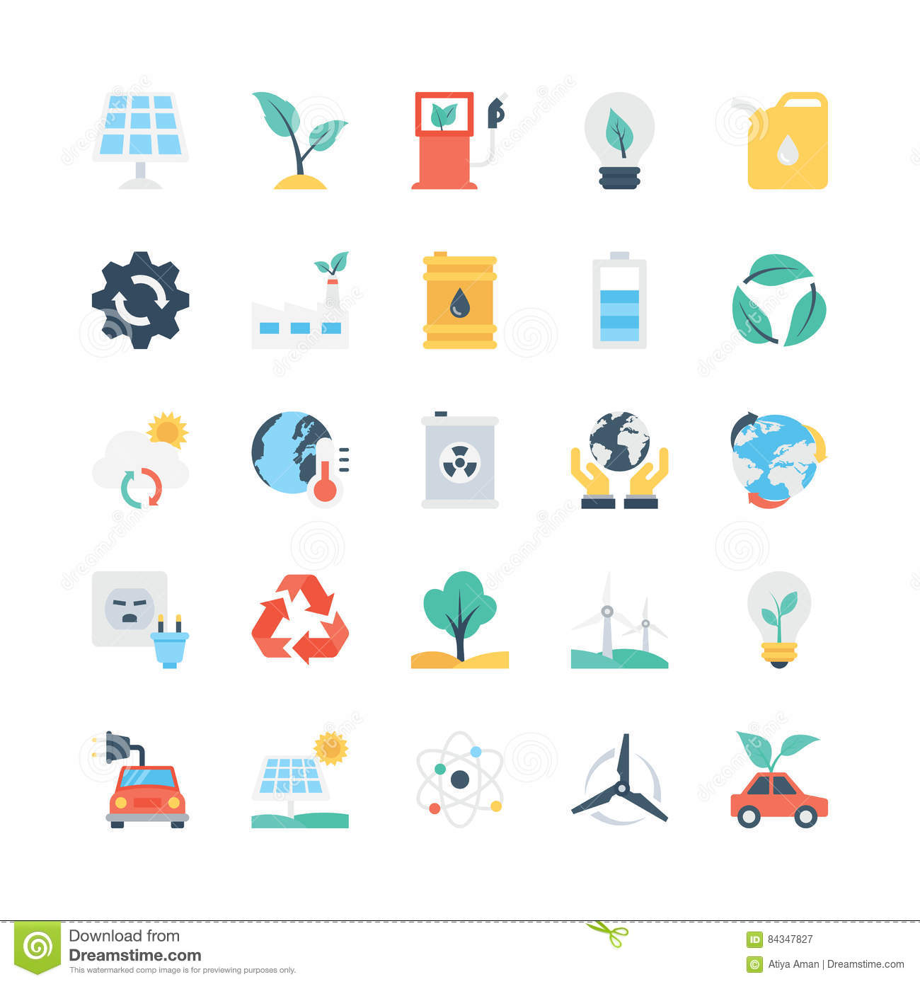 Nature Ecology: Nature And Ecology Vector Icons 1 Stock Image