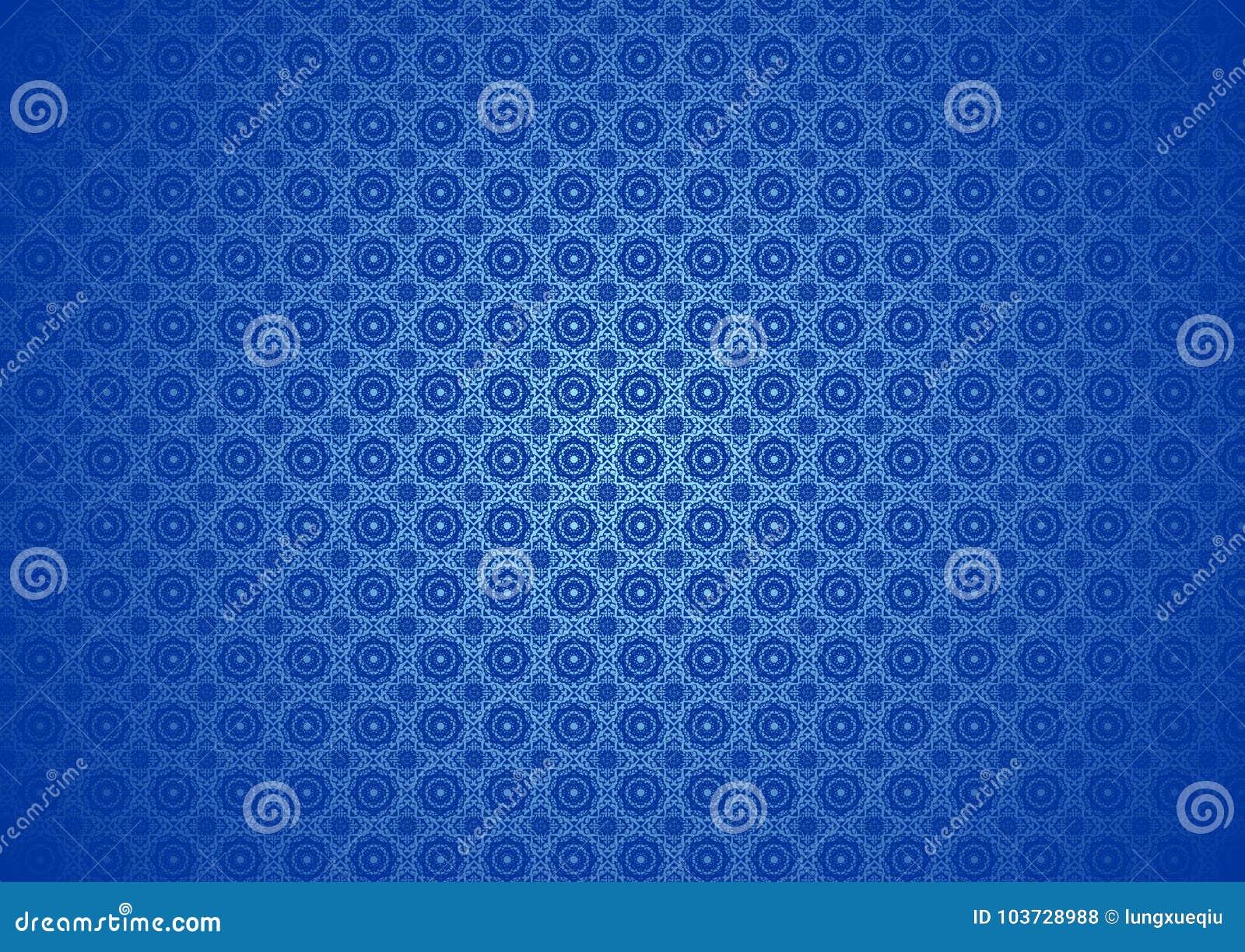 Nature florale orientale, ornemental, chinois, arabe, islamique, Imlek, Ramadan, papier peint bleu de fond de texture de modèle d