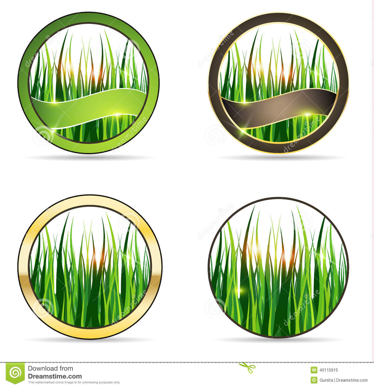 Nature And Grass Icon Set Stock Vector Image 40115915
