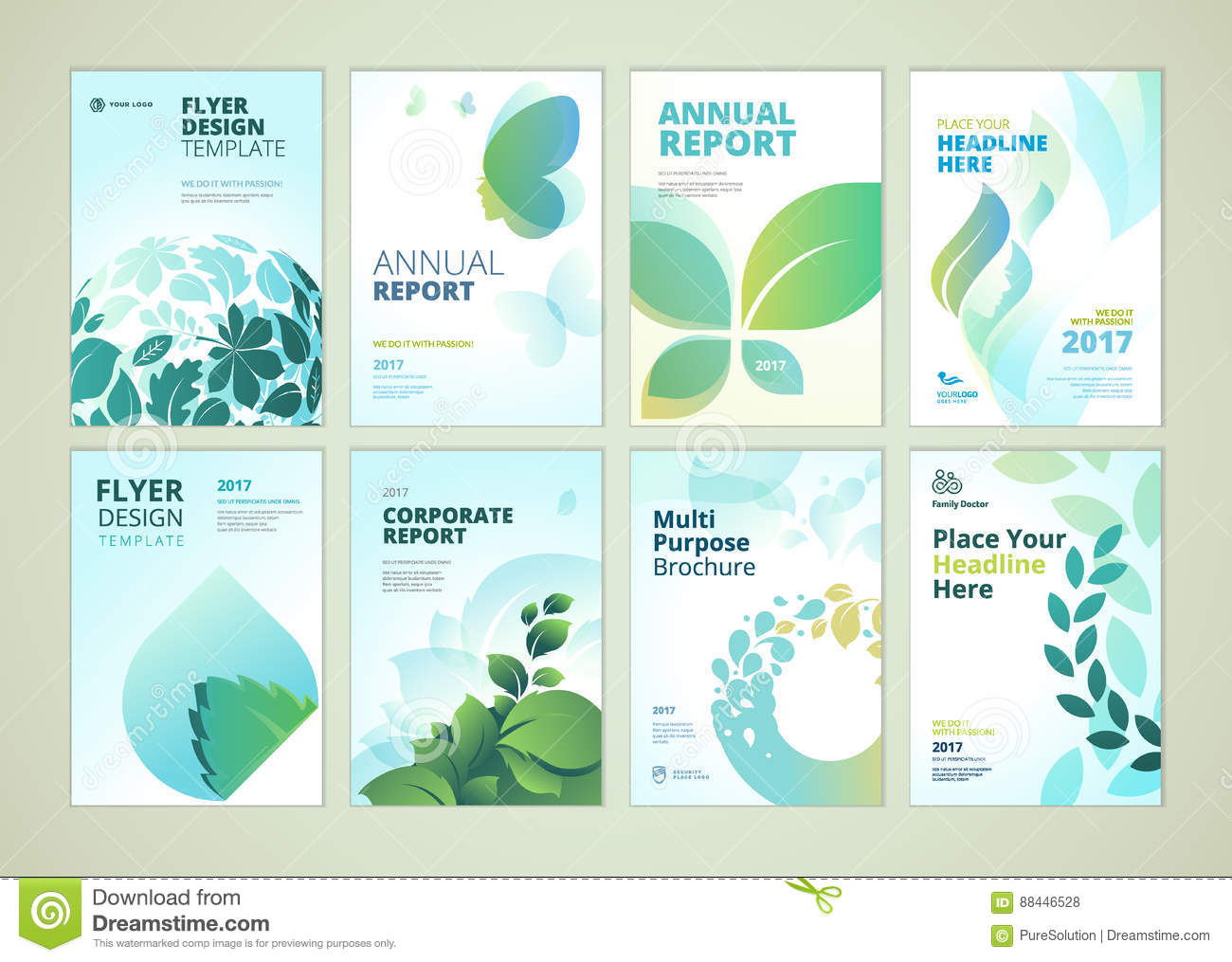 Nature And Healthcare Products Brochure Cover Design And Flyer - Marketing layout templates