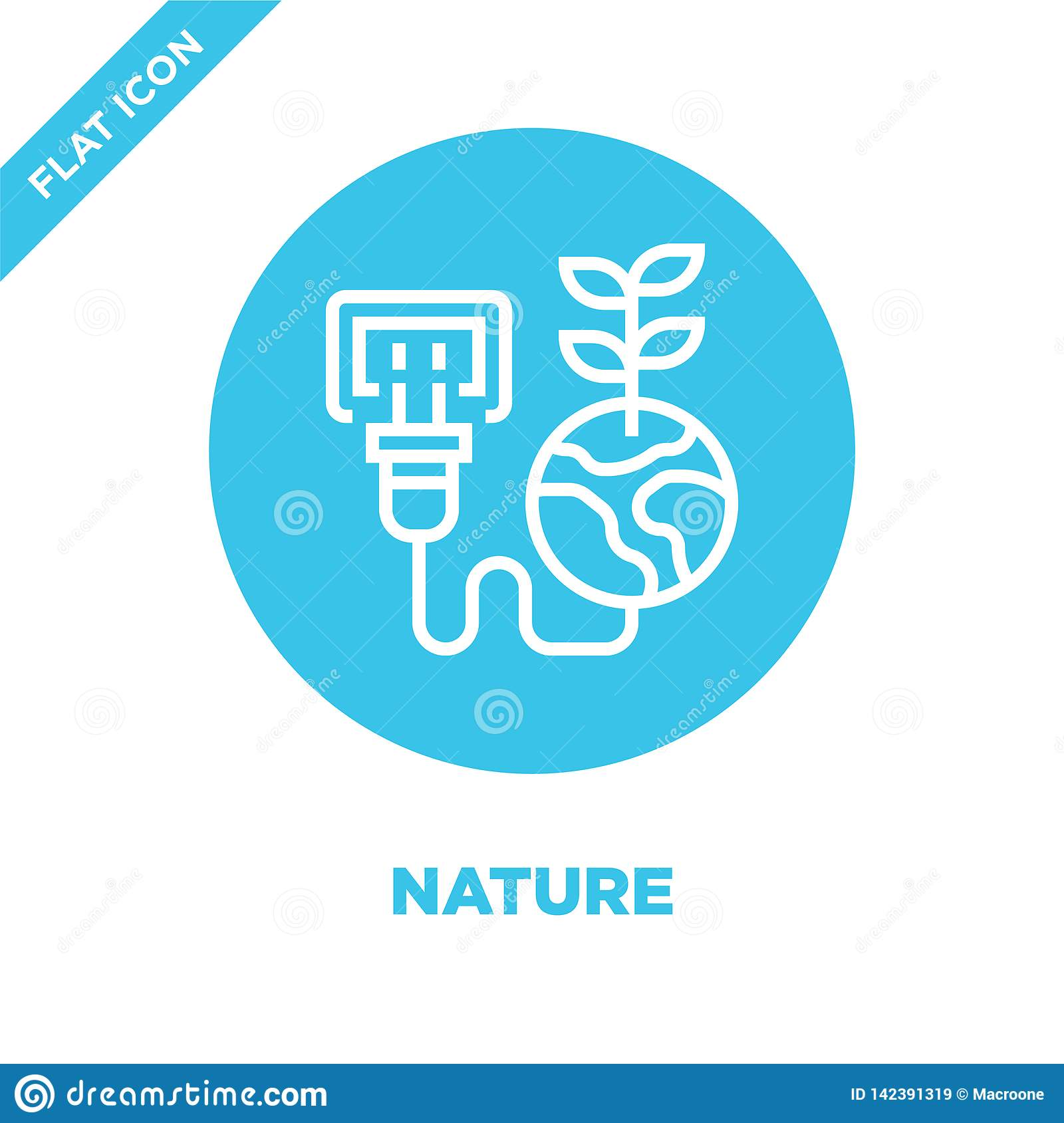 nature icon vector from global warming collection. Thin line nature outline icon vector  illustration. Linear symbol for use on