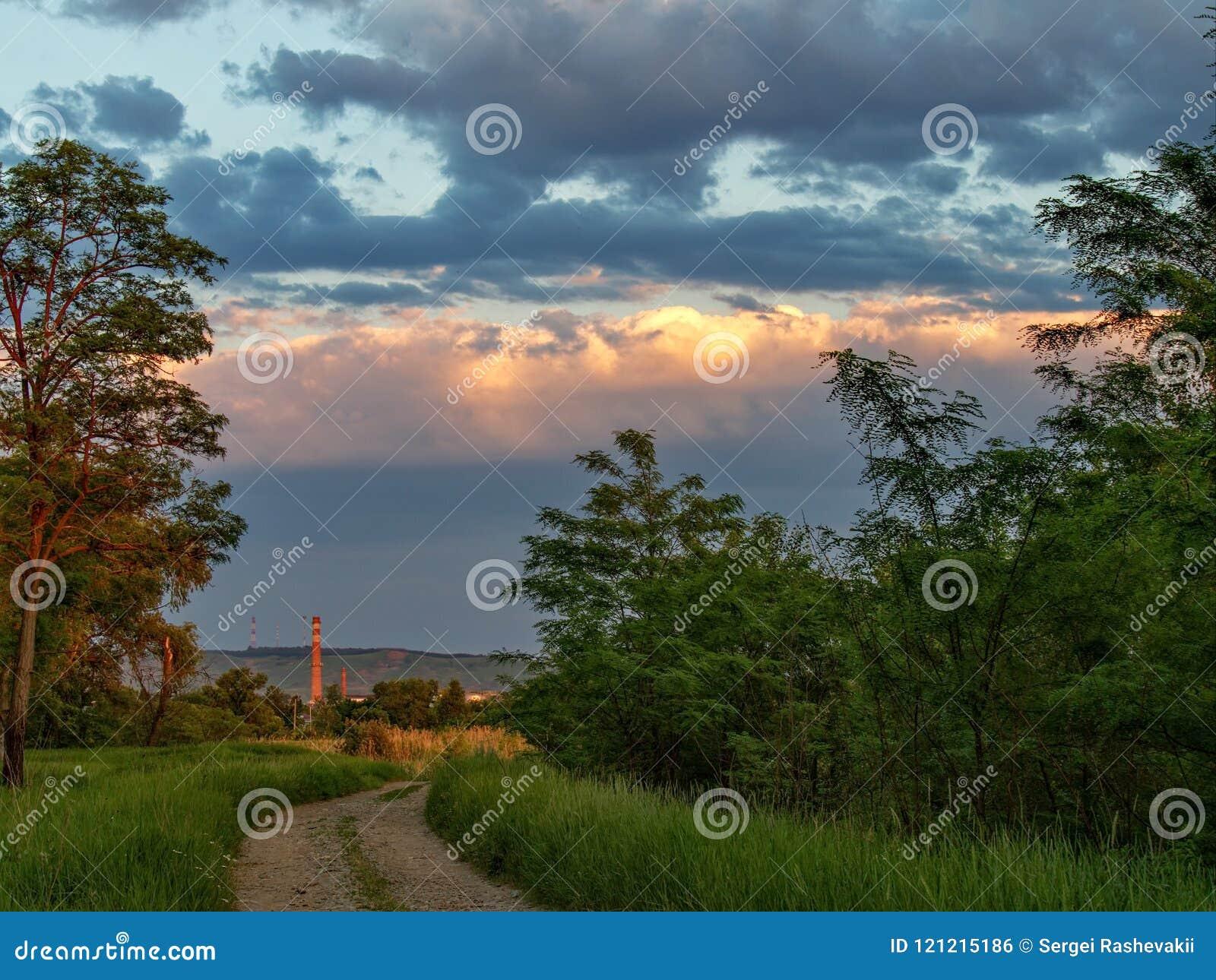 Landscape Nature Clouds Sky Vegetation Trees Evening Sunset