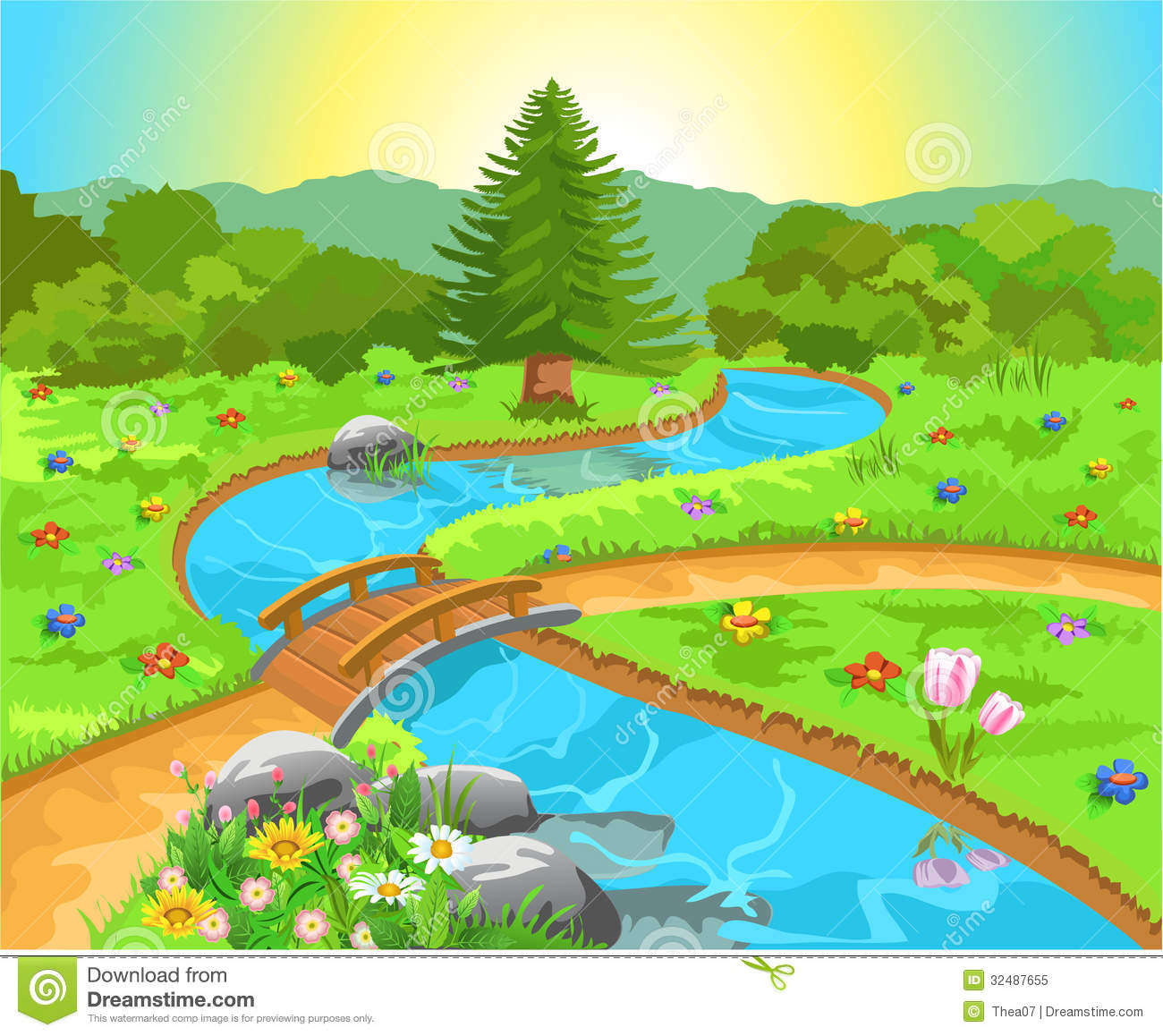 Nature Clipart Images Nature landscape with water