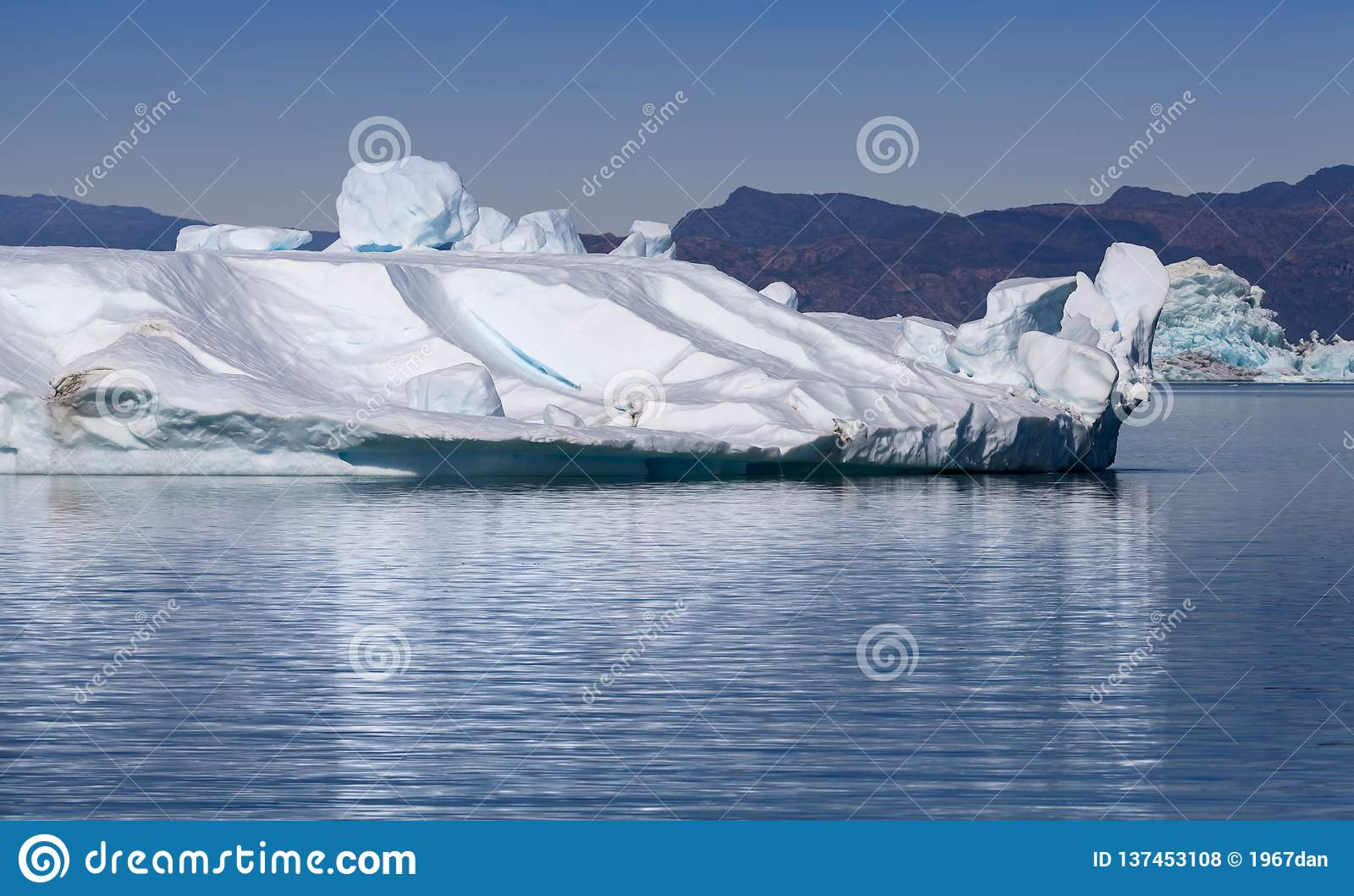 Ices and icebergs of polar regions of Earth.