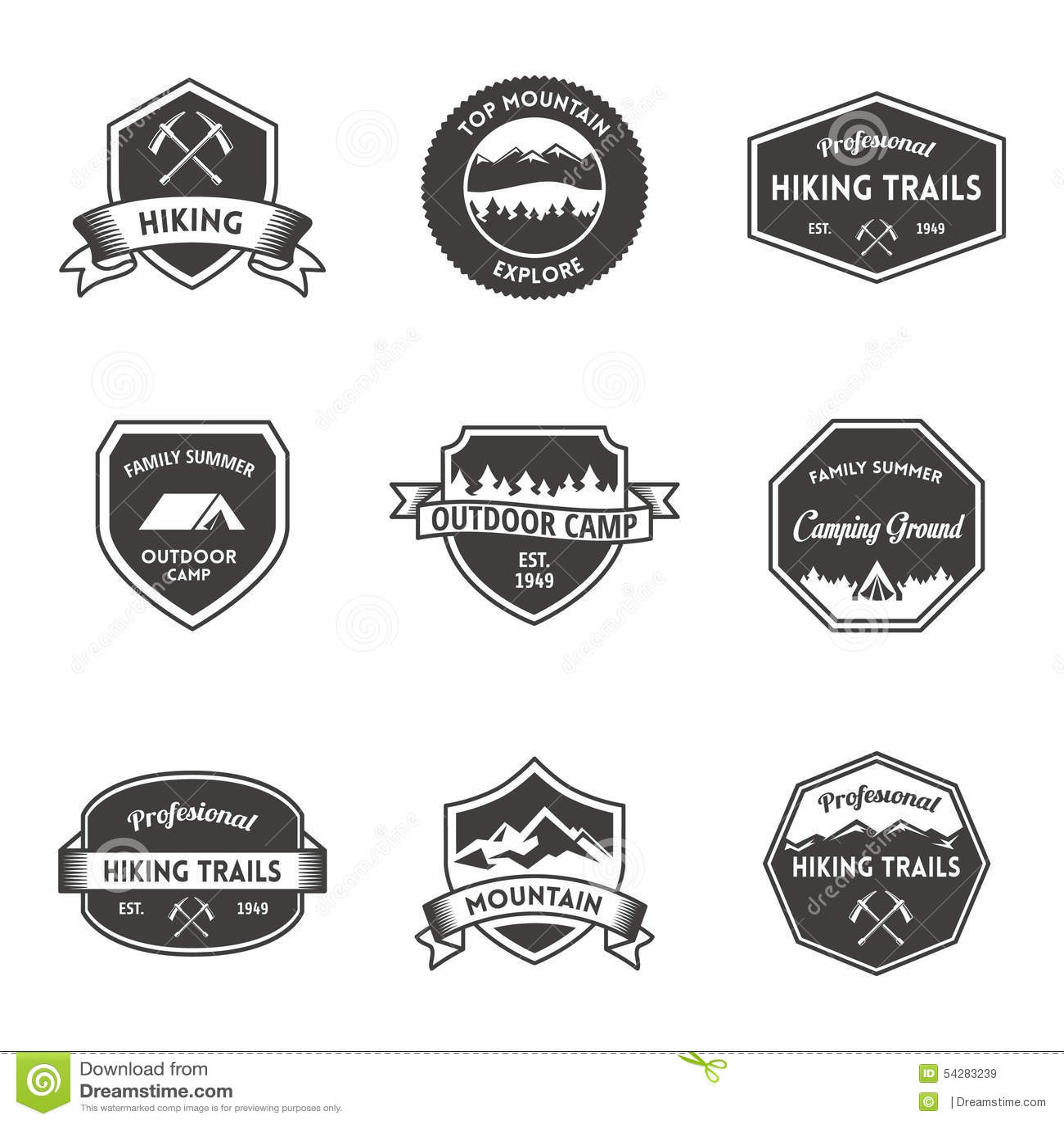 nature logo emblem stock illustration illustration of template