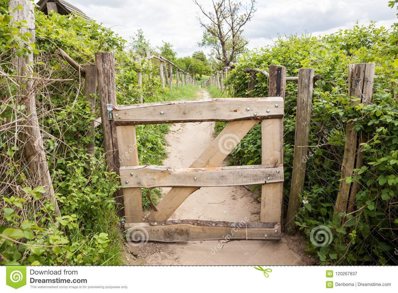 An wooden fence