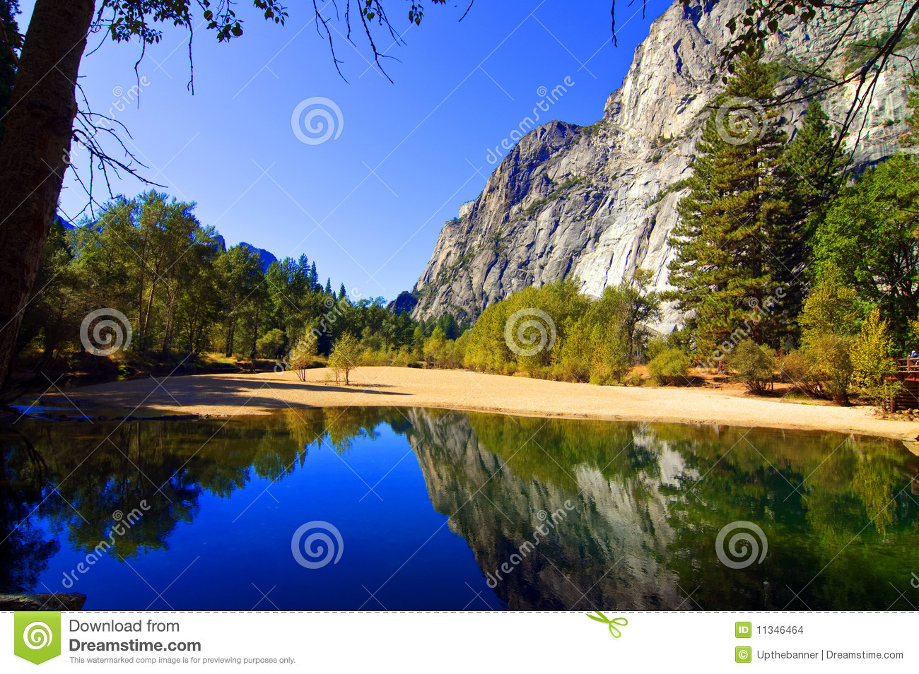 Nature outdoor landscape with water and mountains stock for Outside landscape