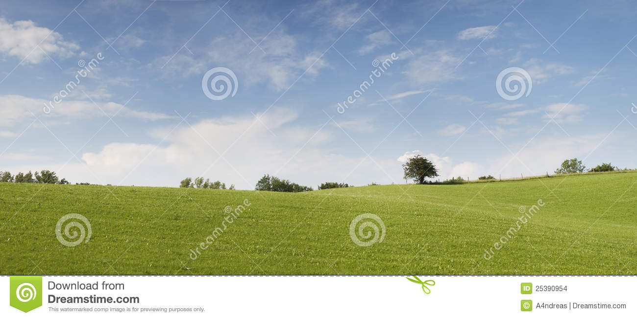 Nature Panorama With Light Blue Cloudy Sky Stock Images ...