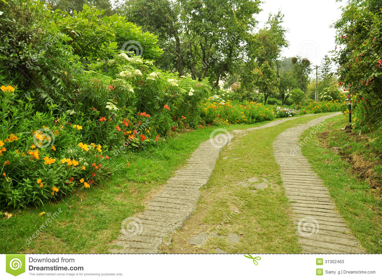 Nature Stock Images Nature path with garden Stock
