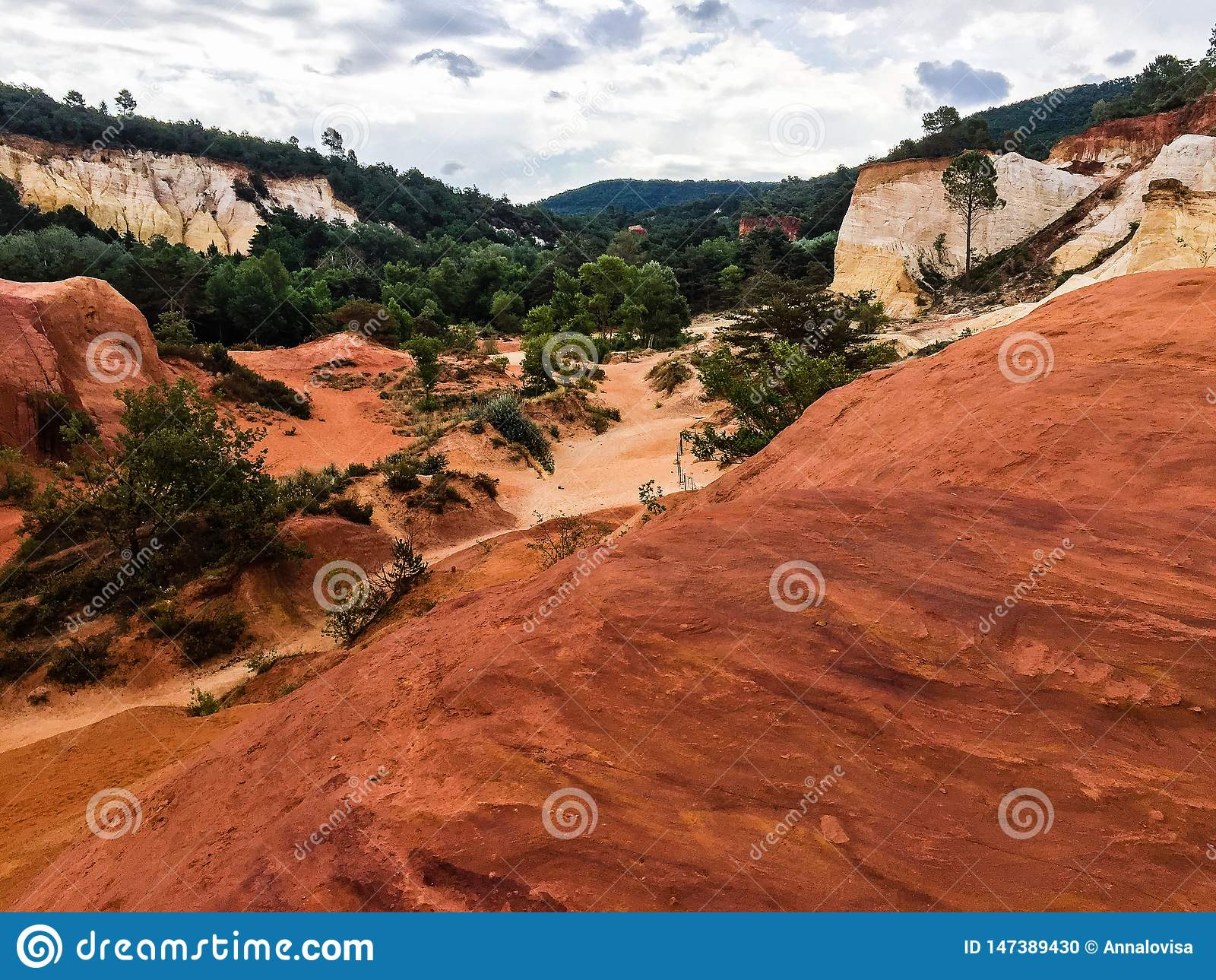 Nature reserve with red sand in France